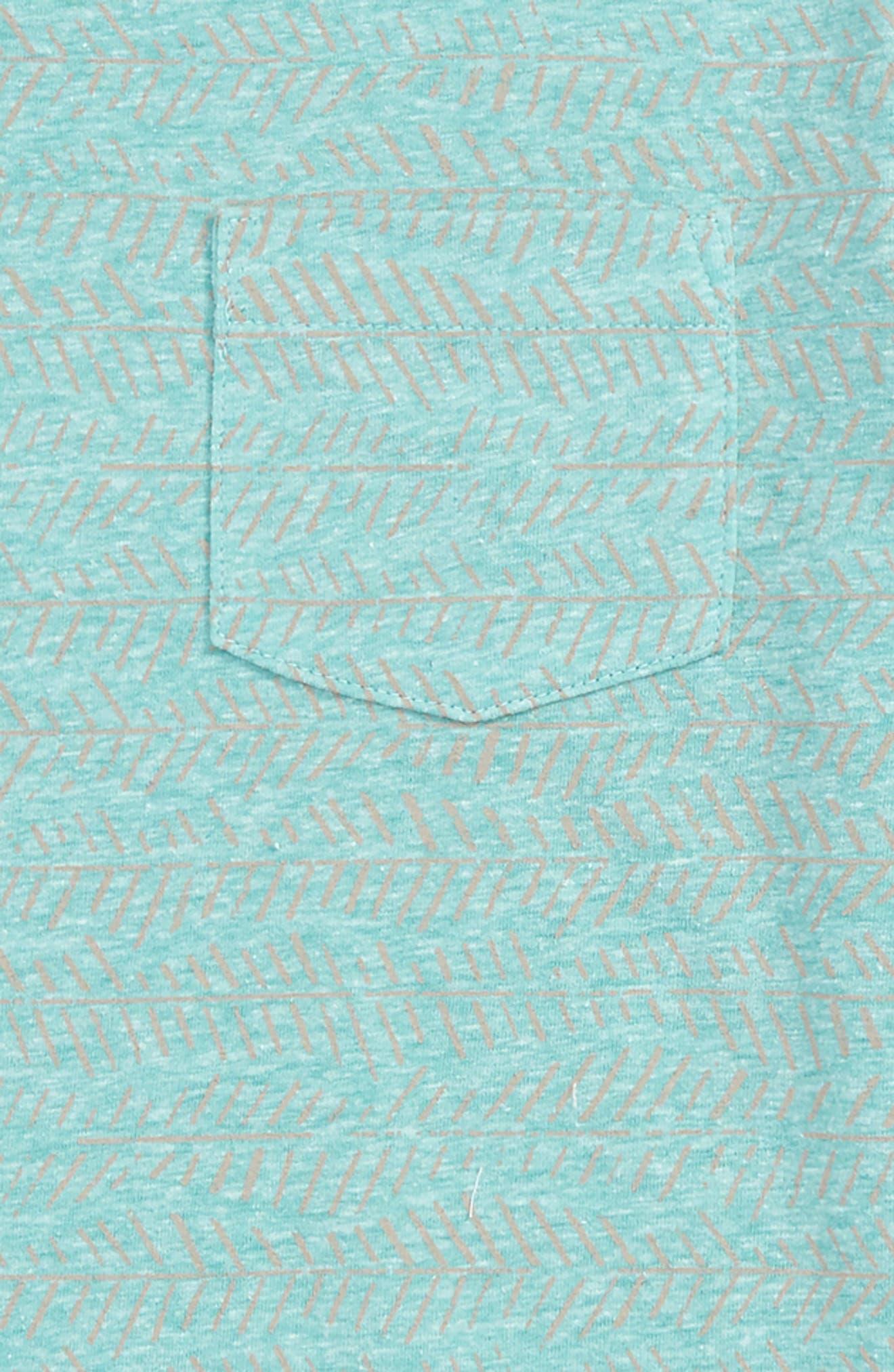Tropical T-Shirt,                             Alternate thumbnail 2, color,                             Green Lake Zig Zag