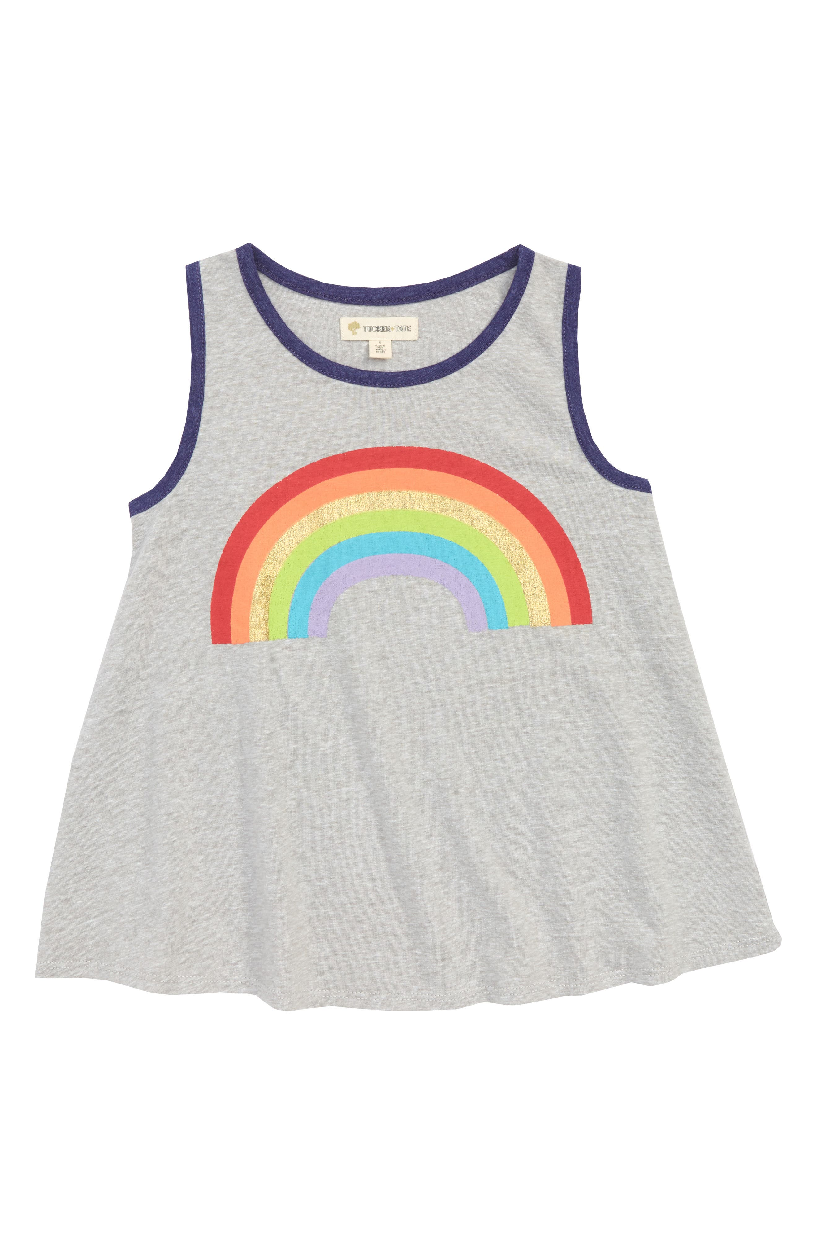 Tucker + Tate Graphic Ringer Tank (Toddler Girls, Little Girls & Big Girls)