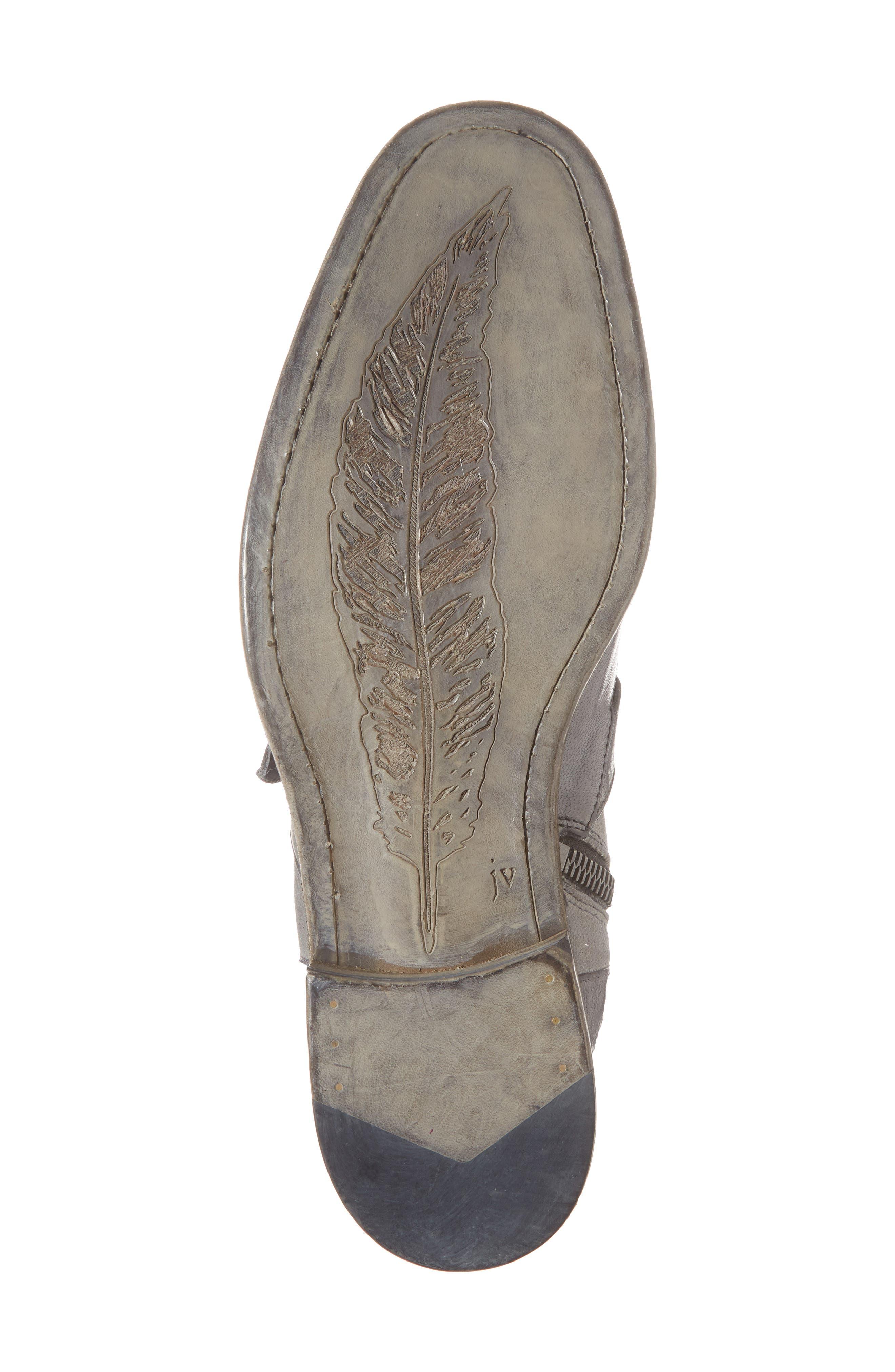 John Varvatos Fleetwood Buckle Cricket Boot,                             Alternate thumbnail 6, color,                             Lead Canvas/ Leather