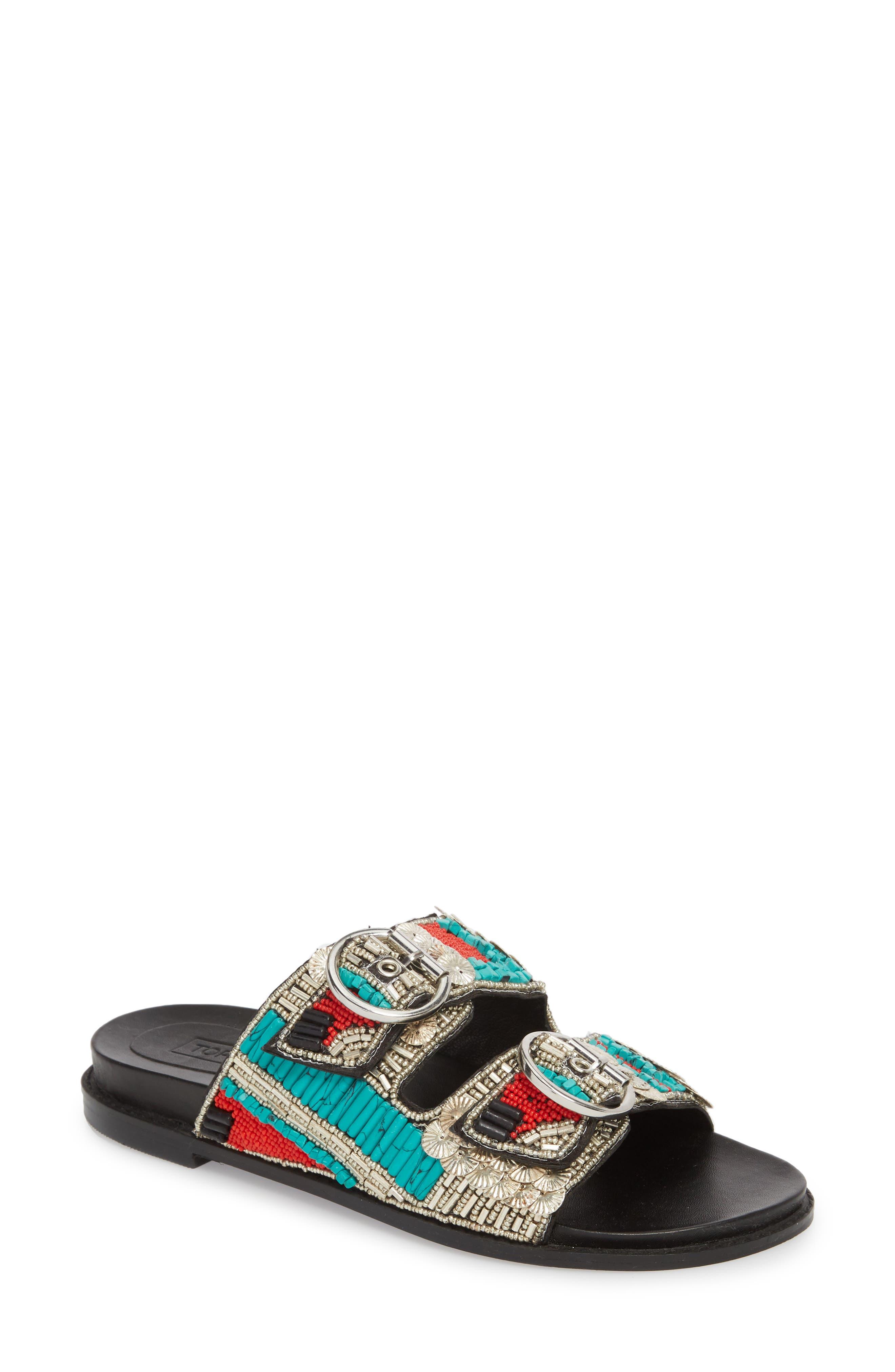 Topshop Frankie Embellished Slide Sandal (Women)