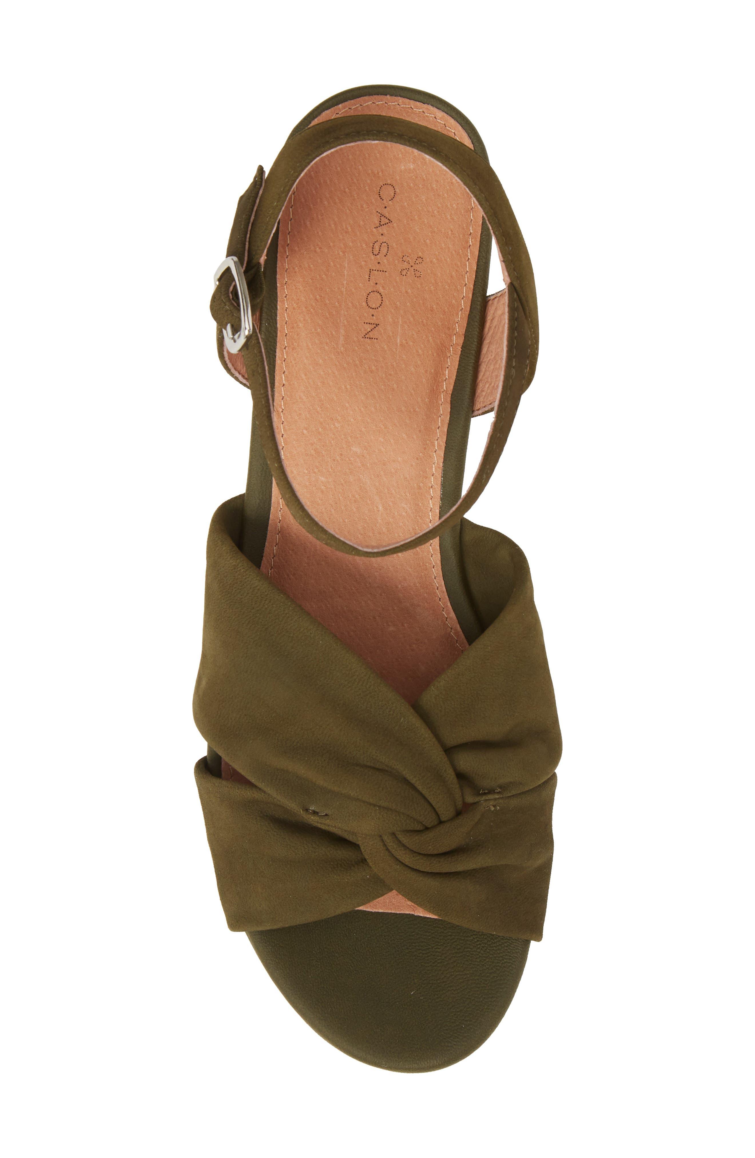 Ryder Platform Sandal,                             Alternate thumbnail 5, color,                             Olive Nubuck
