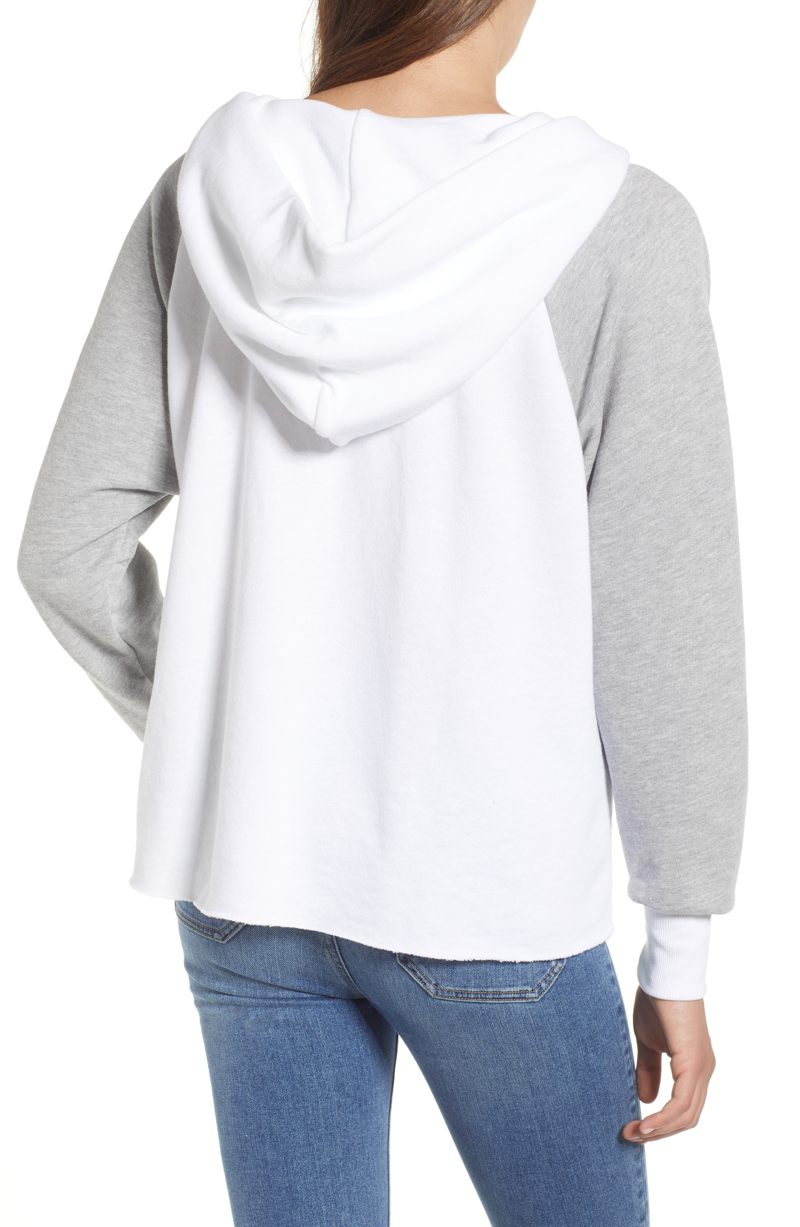 Contrast Hutton Hoodie,                             Alternate thumbnail 2, color,                             Clean White/ Heather