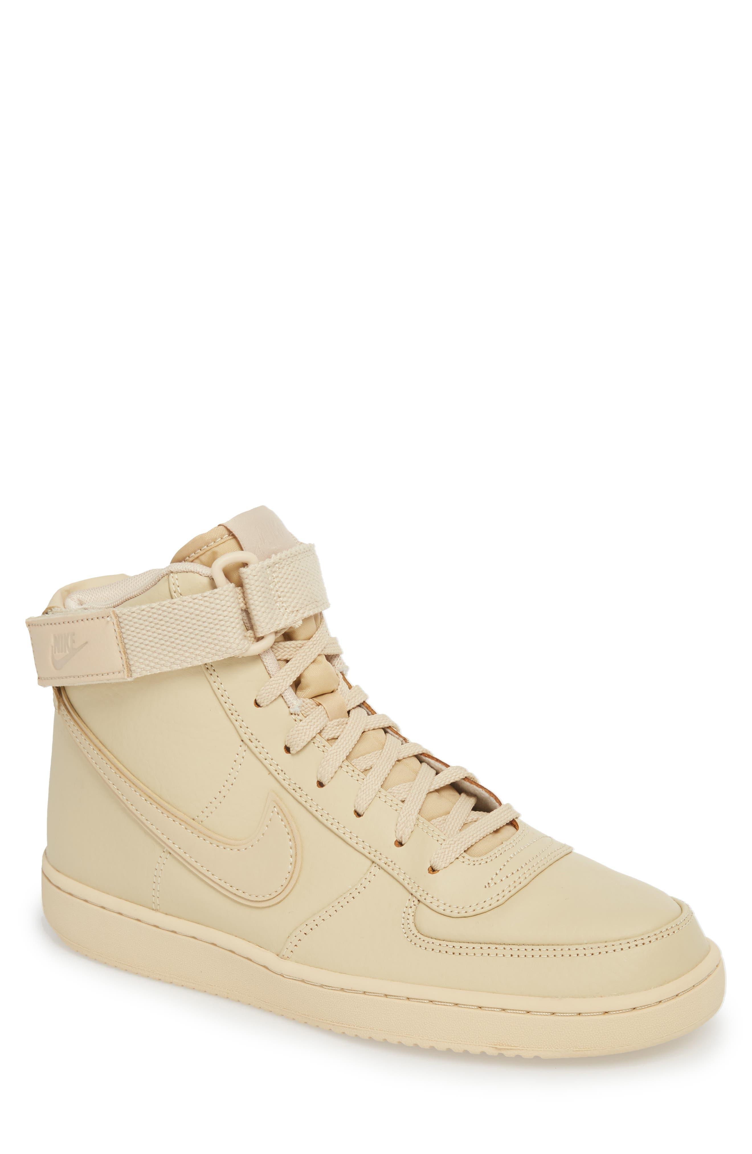 Vandal High Supreme Leather Sneaker,                         Main,                         color, Desert Ore