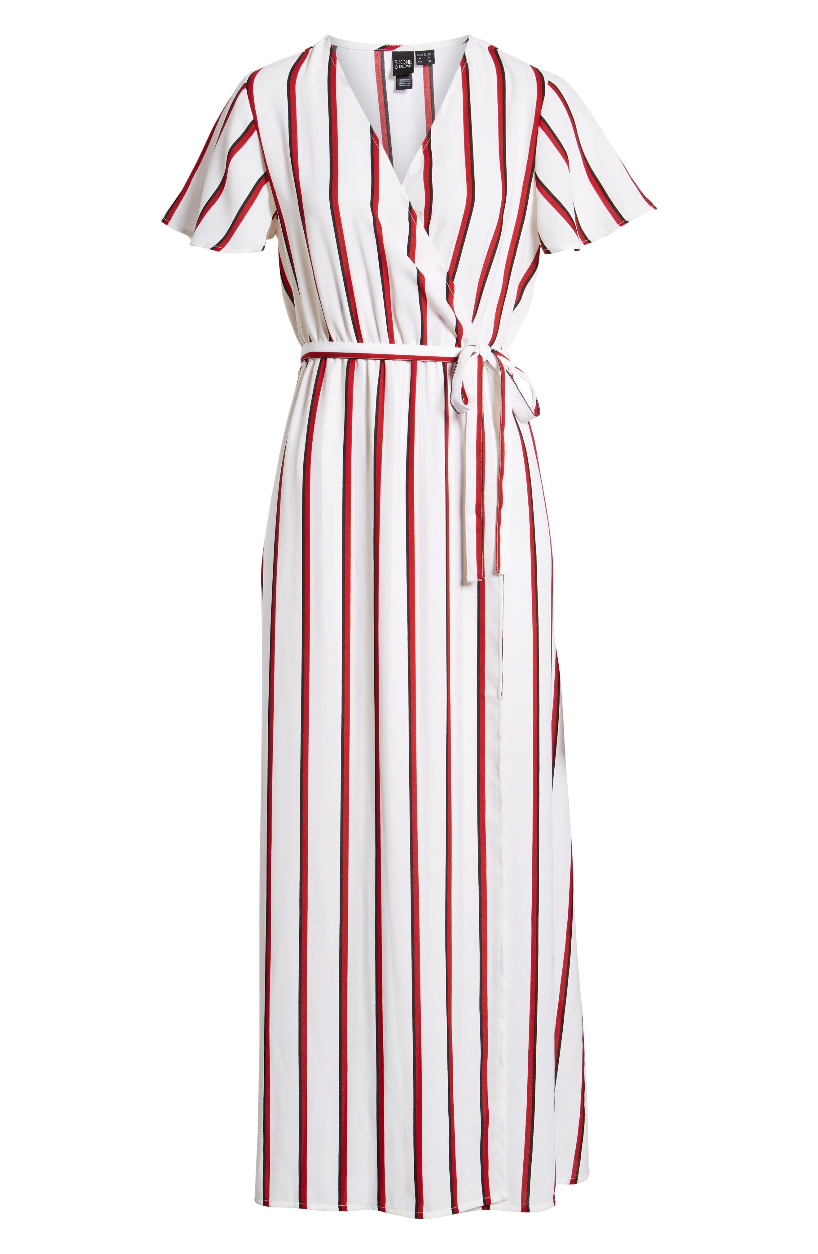 EZ Days Satin Wrap Maxi Dress,                             Alternate thumbnail 7, color,                             Chili Red