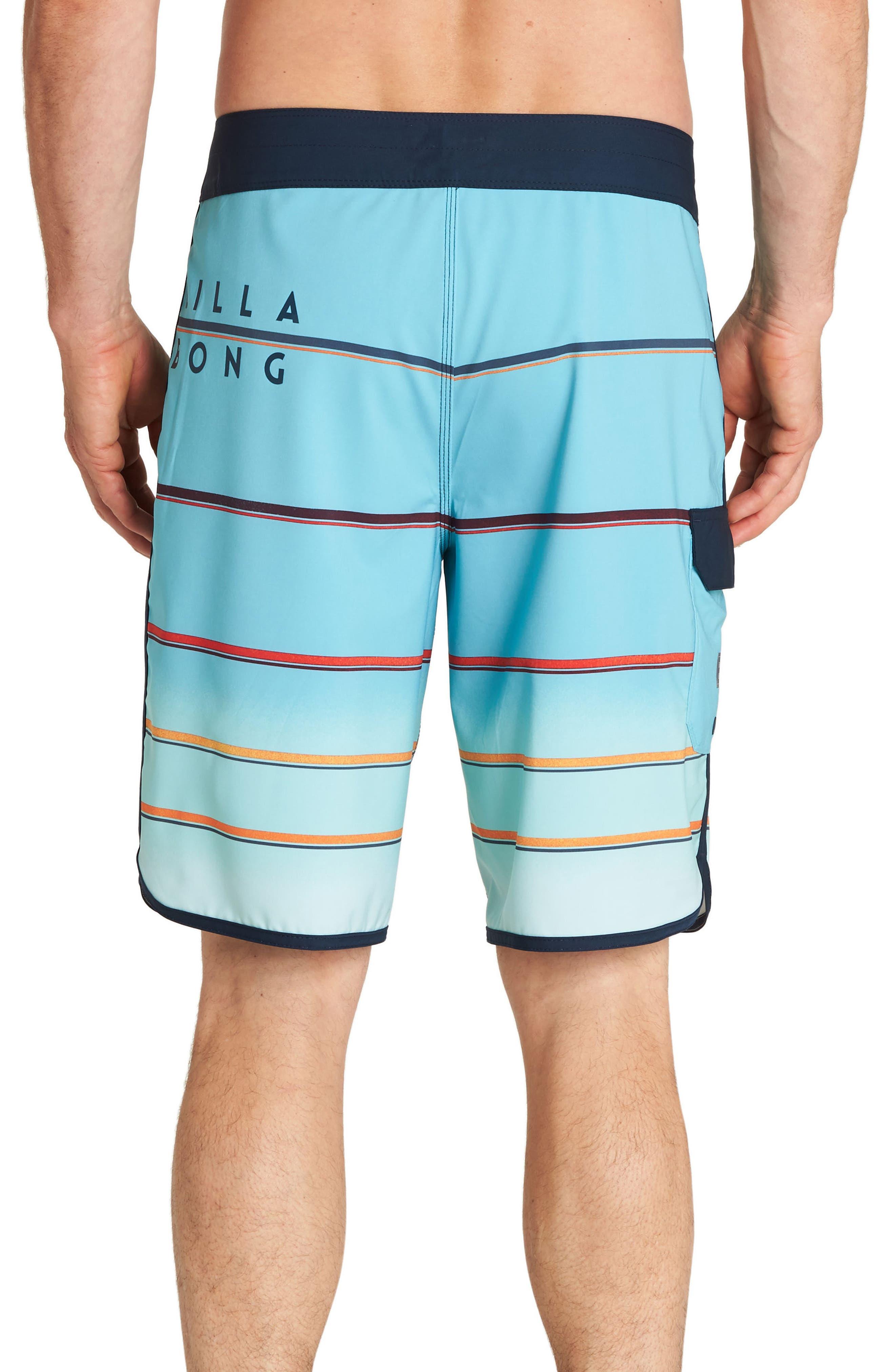 73 X Stripe Board Shorts,                             Alternate thumbnail 2, color,                             Mint