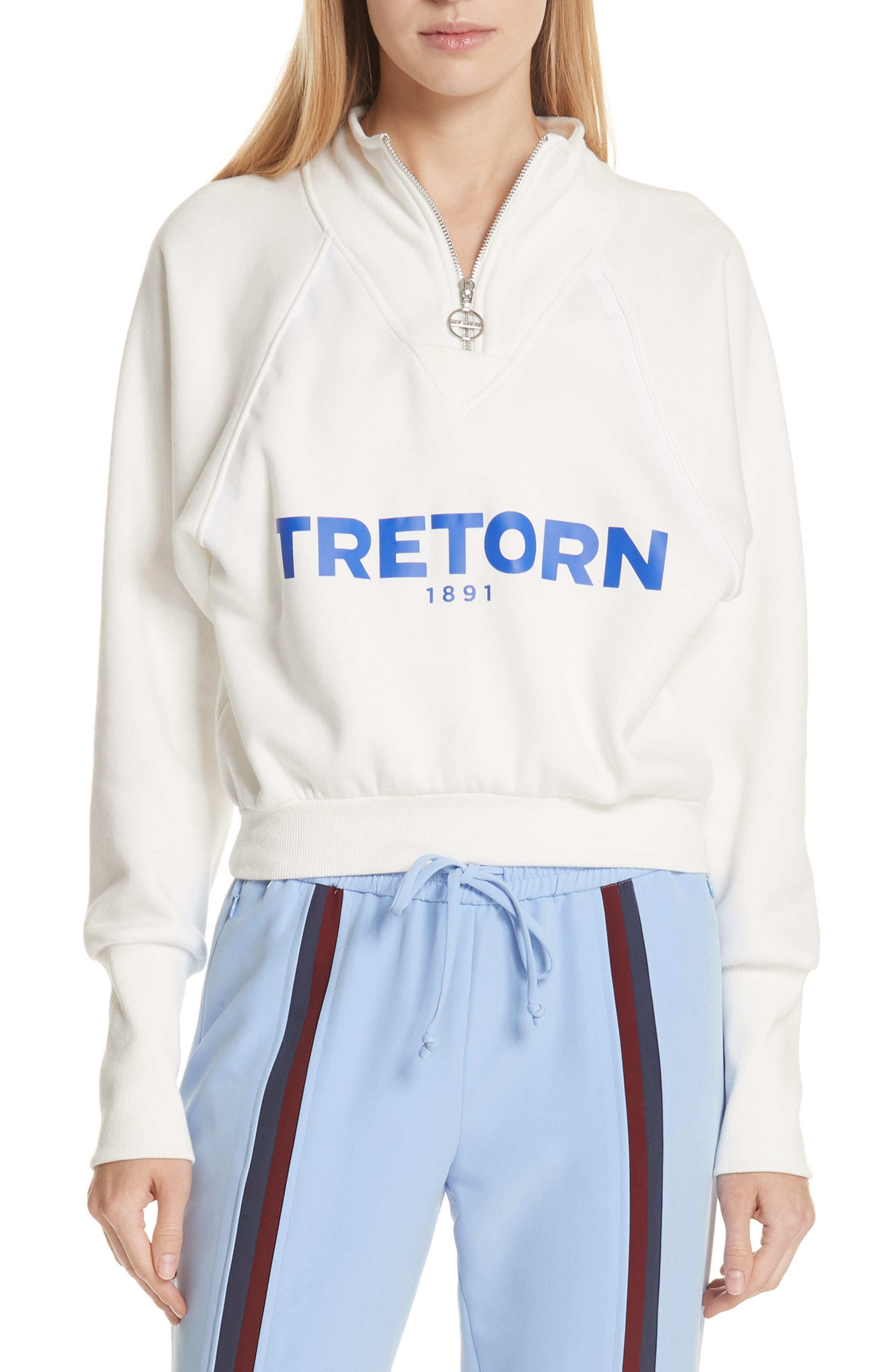 Graphic Half Zip Pullover,                         Main,                         color, White