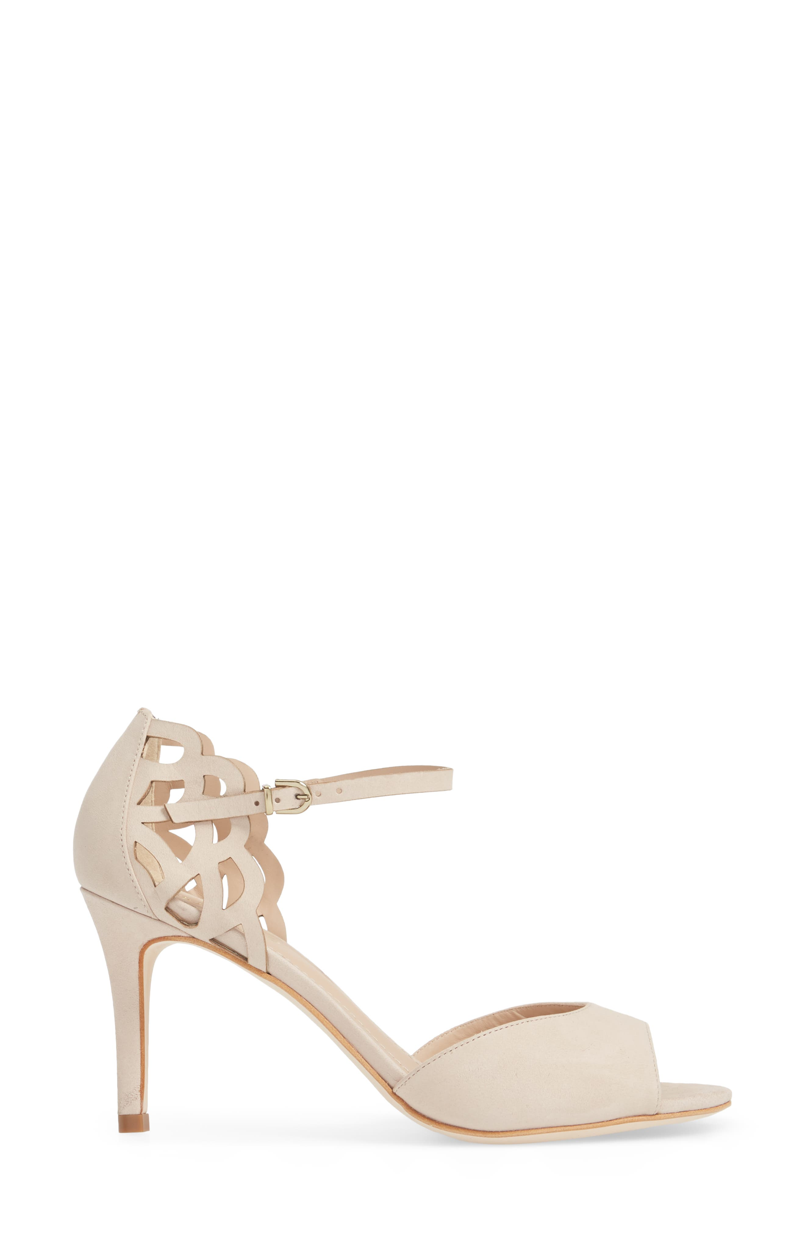 Adalie Sandal,                             Alternate thumbnail 3, color,                             Nude Leather