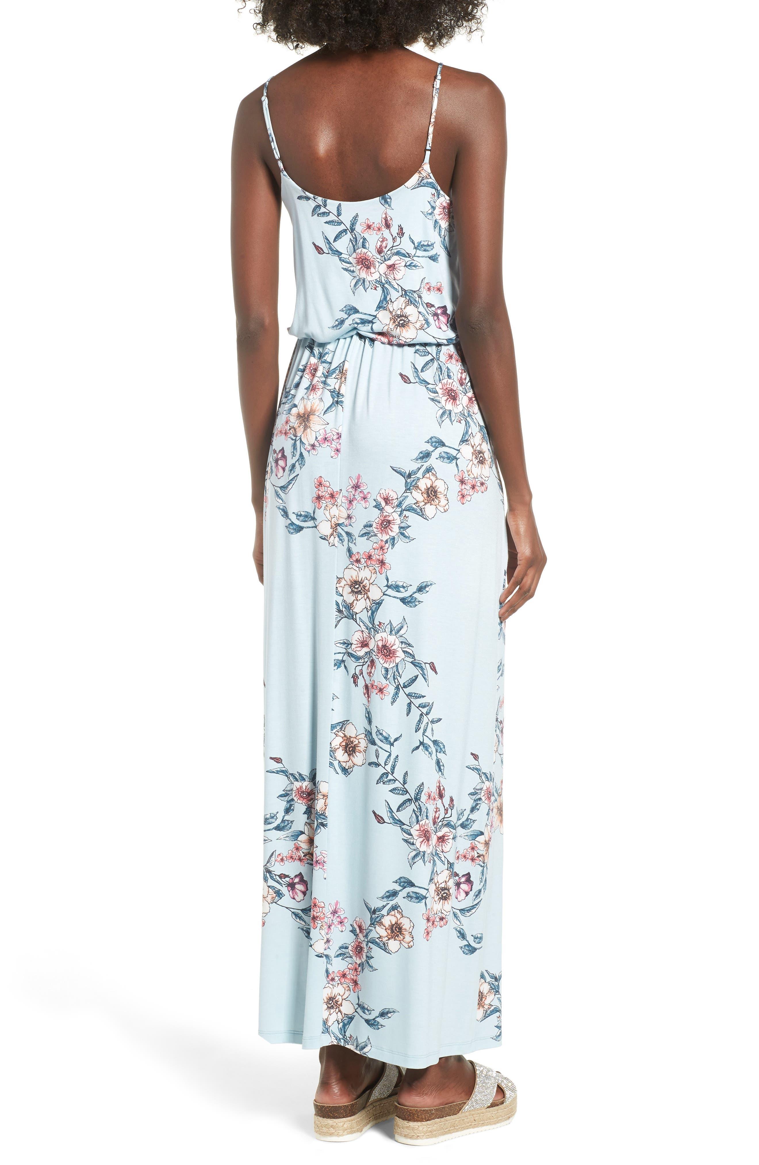 Knit Maxi Dress,                             Alternate thumbnail 2, color,                             Sky Rose