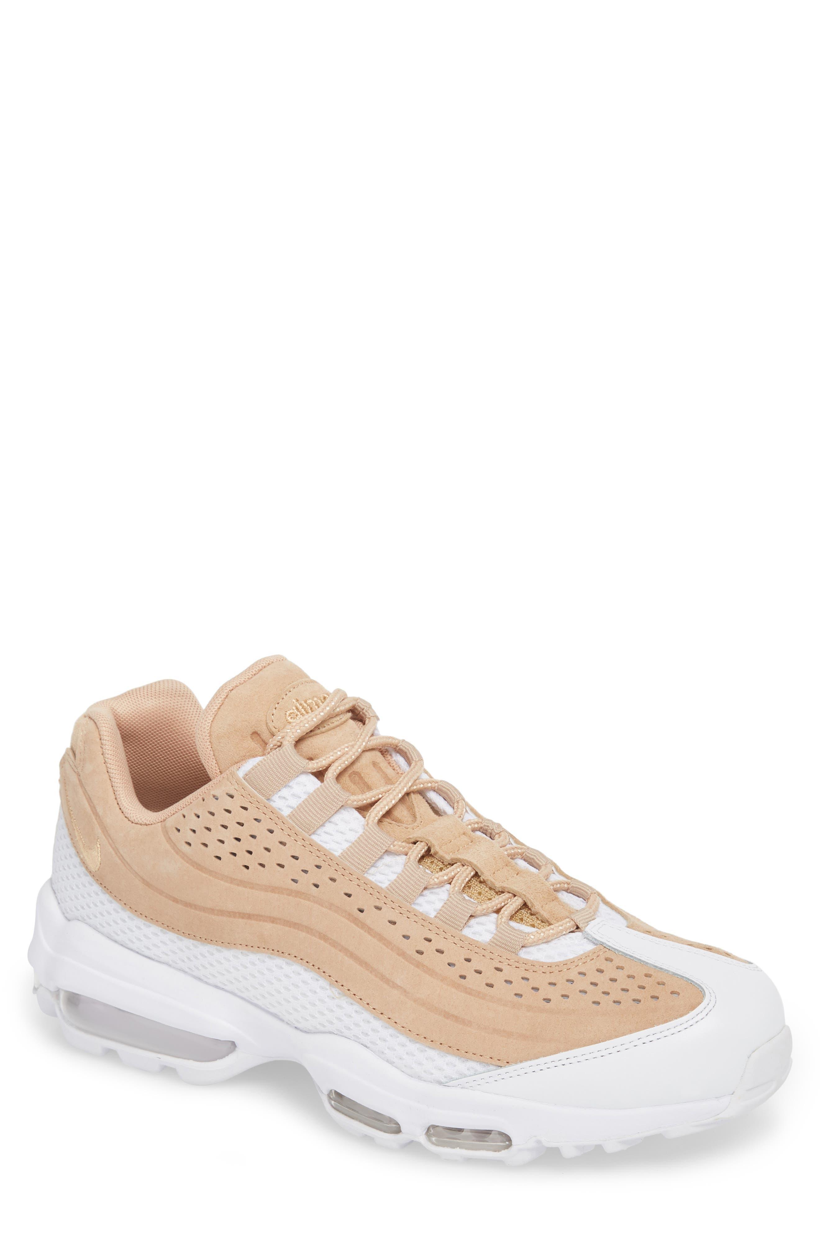 Air Max 95 Ultra Premium Sneaker,                             Main thumbnail 1, color,                             Vachetta Tan/ White