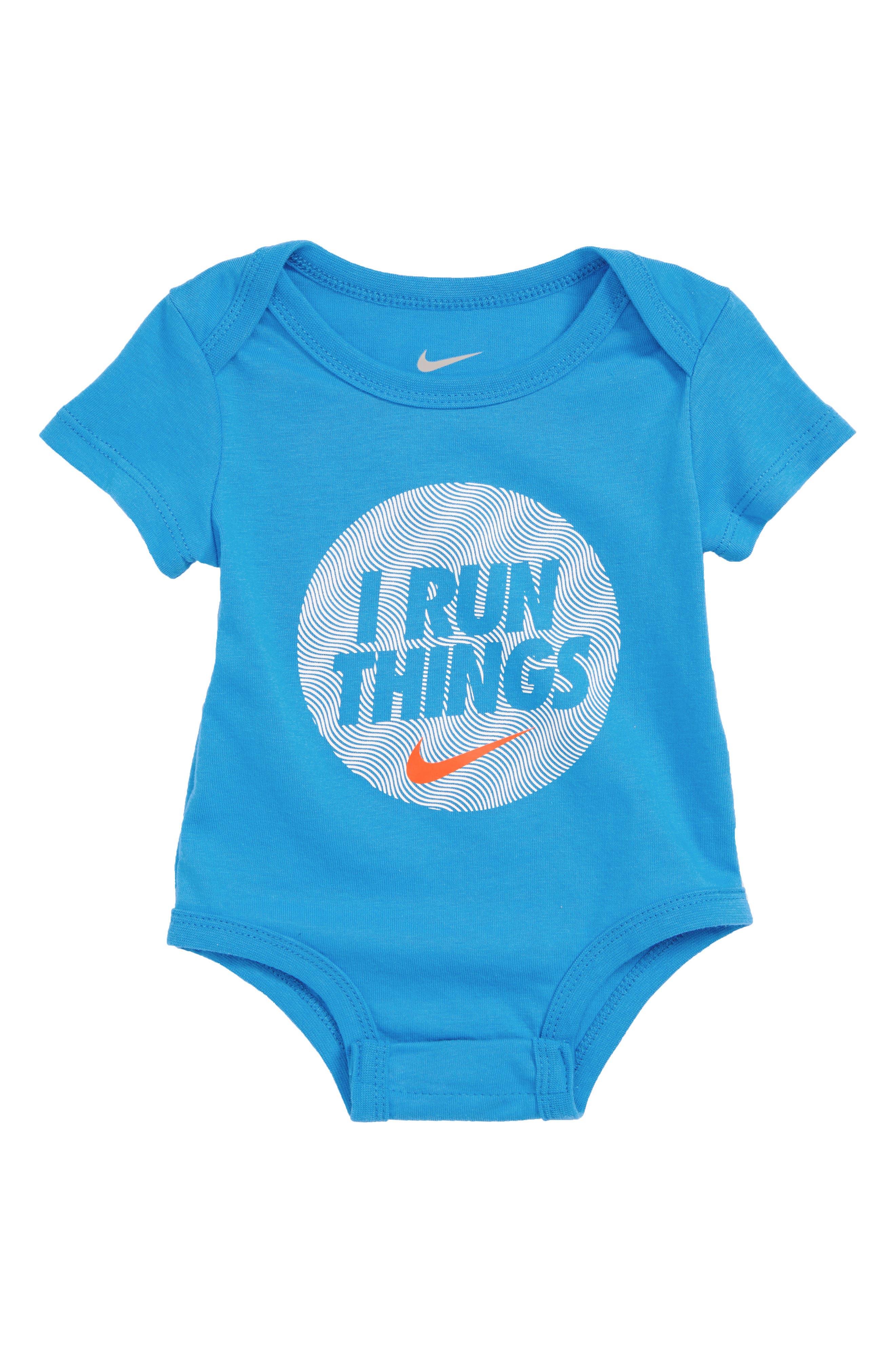 Nike I Run Things Bodysuit (Baby Boys)