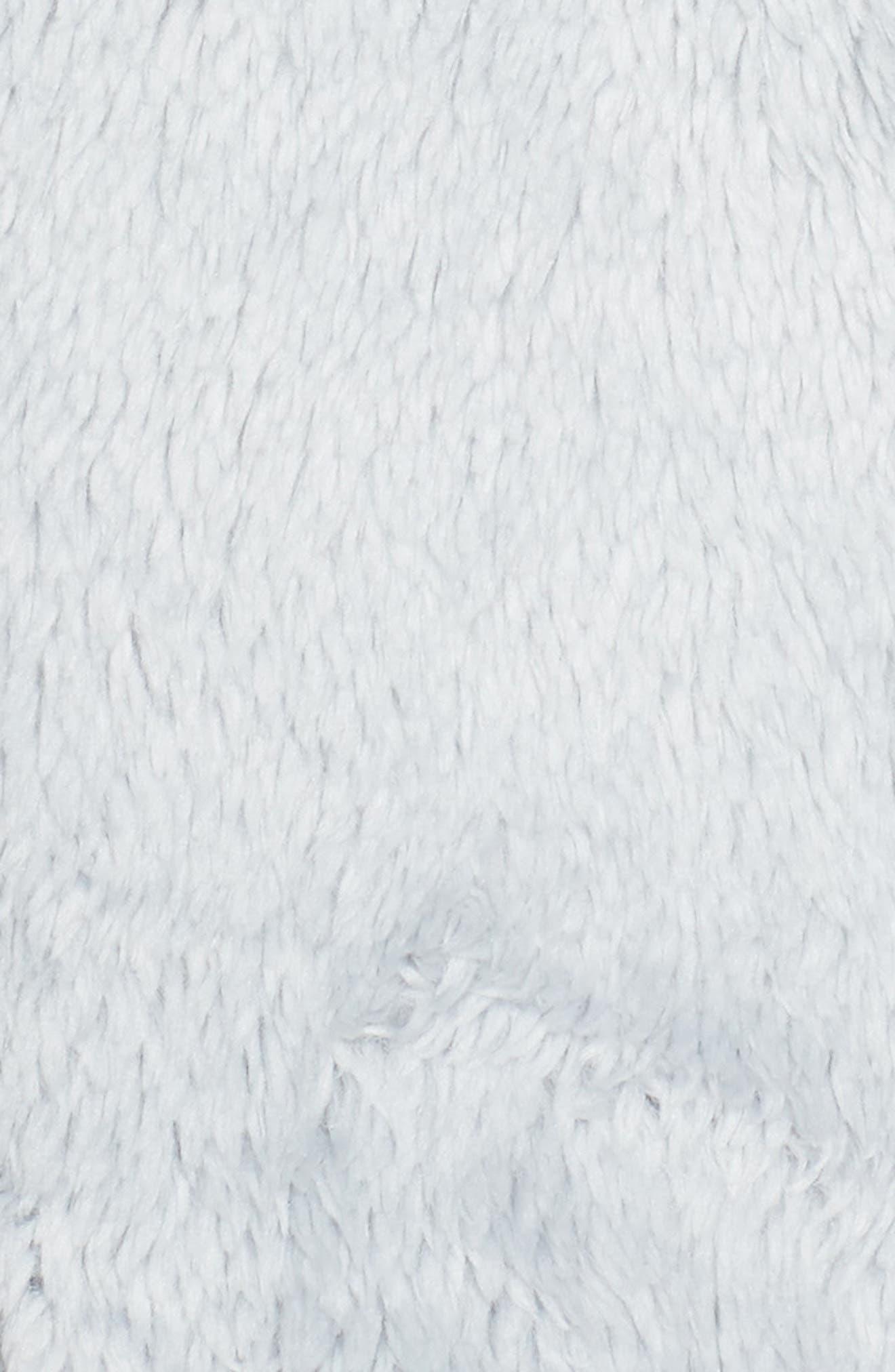 Furry Fleece Jacket,                             Alternate thumbnail 6, color,                             High Rise Grey