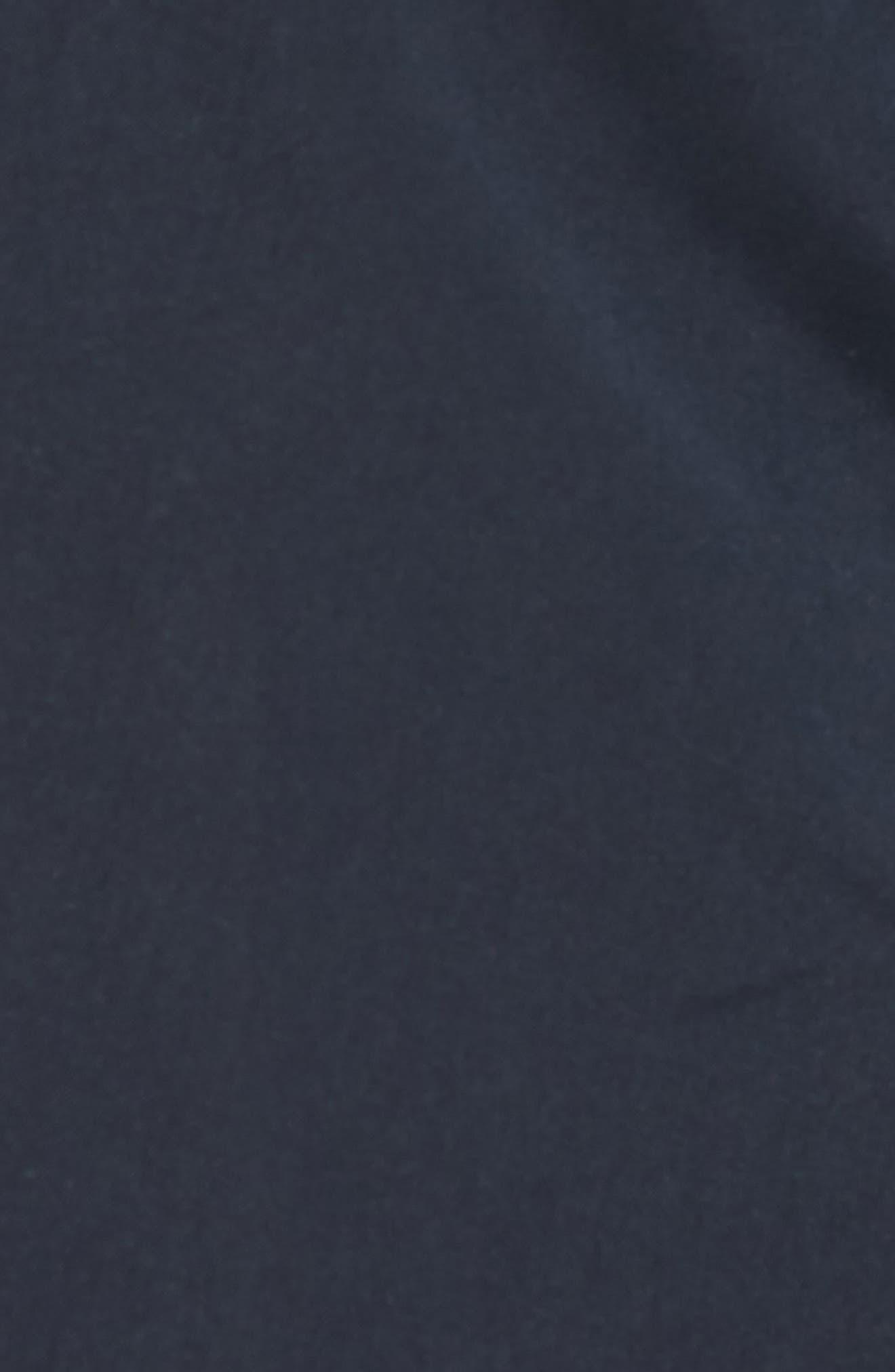 Marco Slim Fit Swim Trunks,                             Alternate thumbnail 4, color,                             Marine Blue