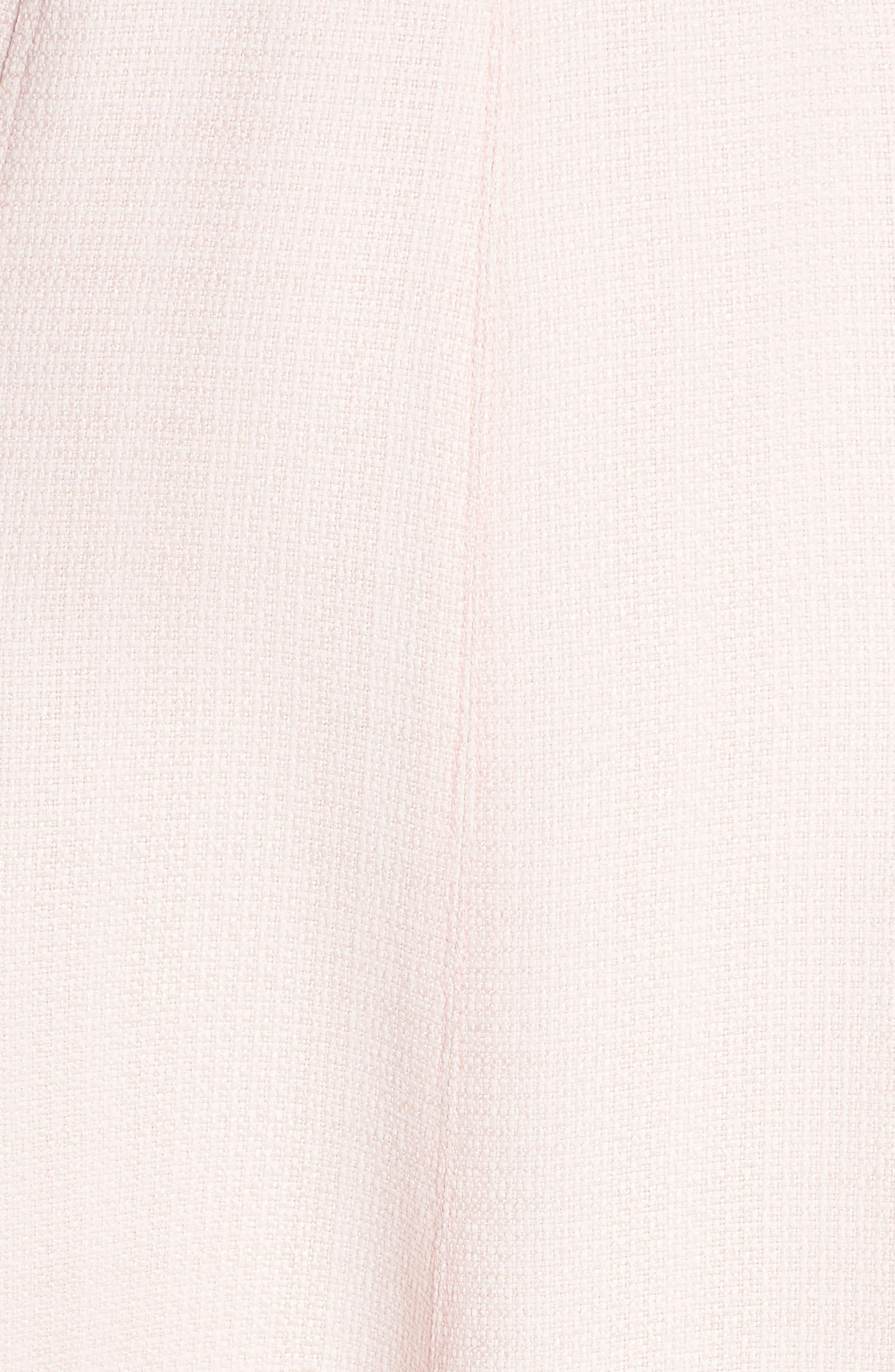 Fringe Hem A-Line Dress,                             Alternate thumbnail 6, color,                             Blush
