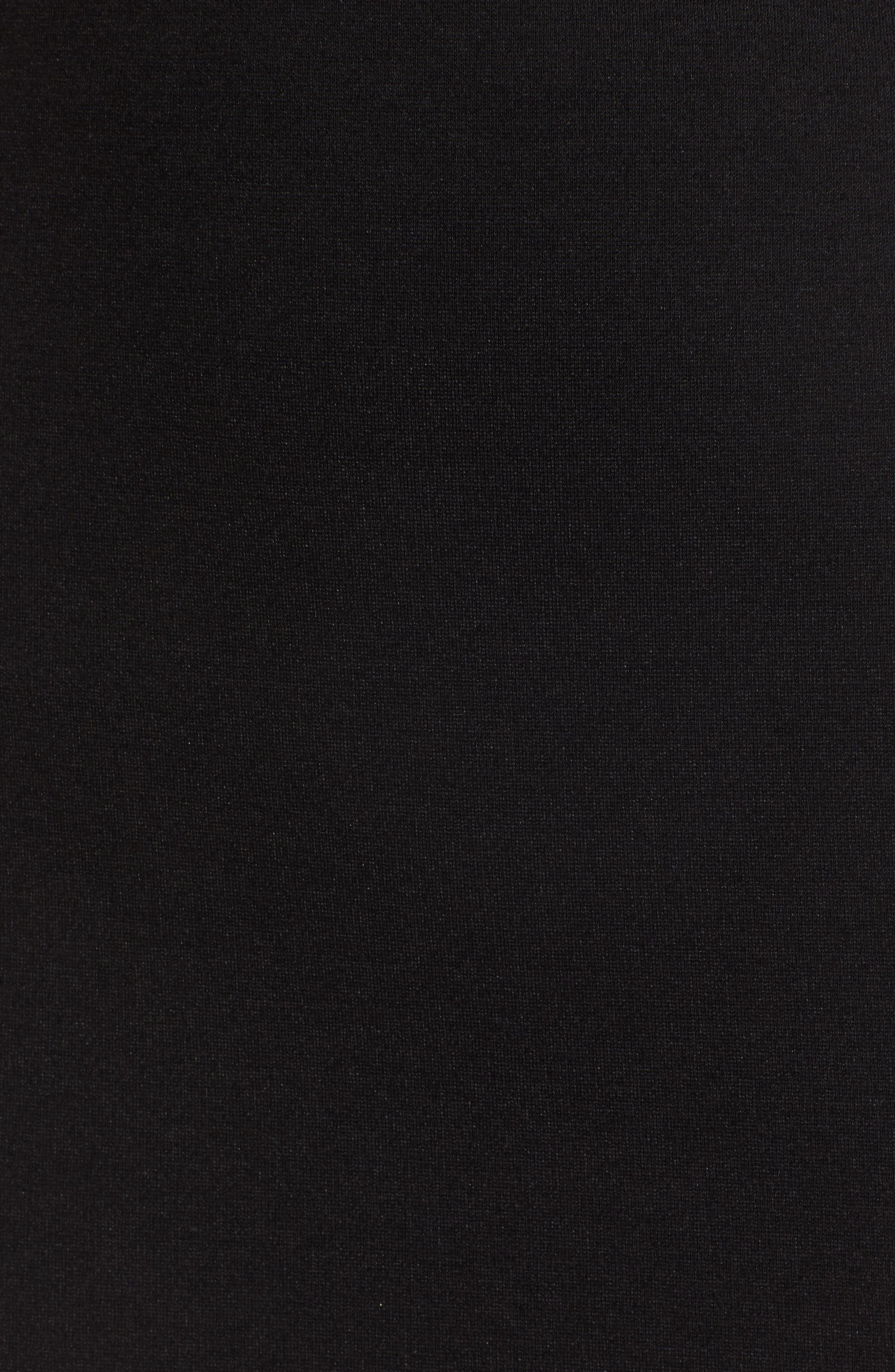 Stretch Ponte Mini Skirt,                             Alternate thumbnail 6, color,                             Black