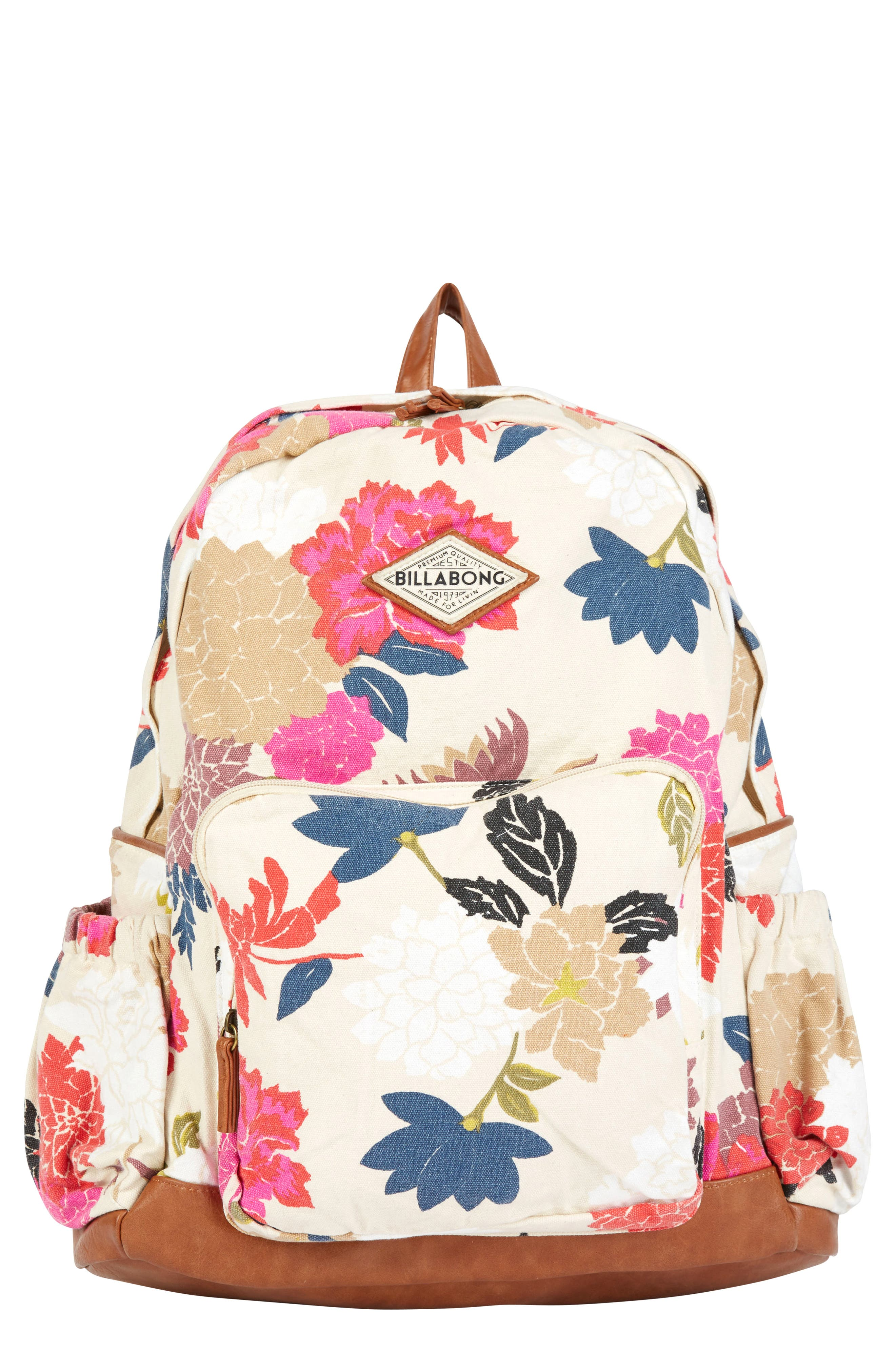 Home Abroad Floral Print Backpack,                         Main,                         color, Cream