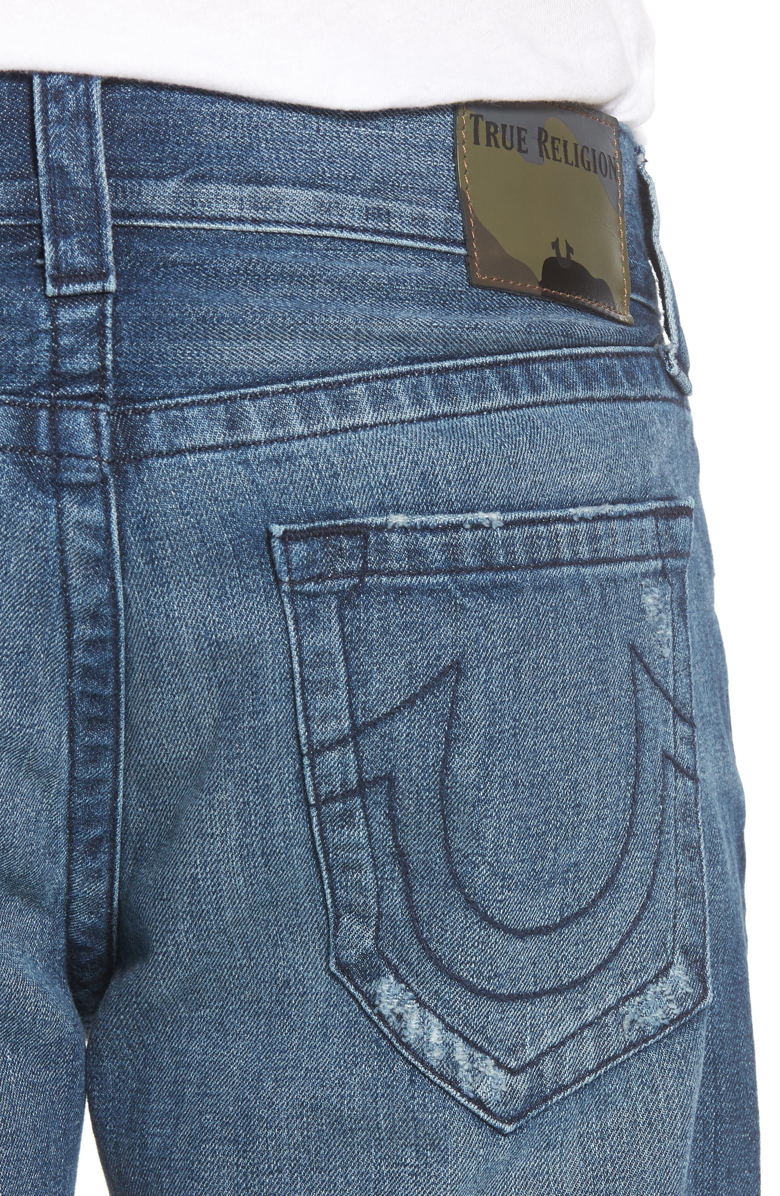 Geno Straight Leg Jeans,                             Alternate thumbnail 4, color,                             Worn Suspect
