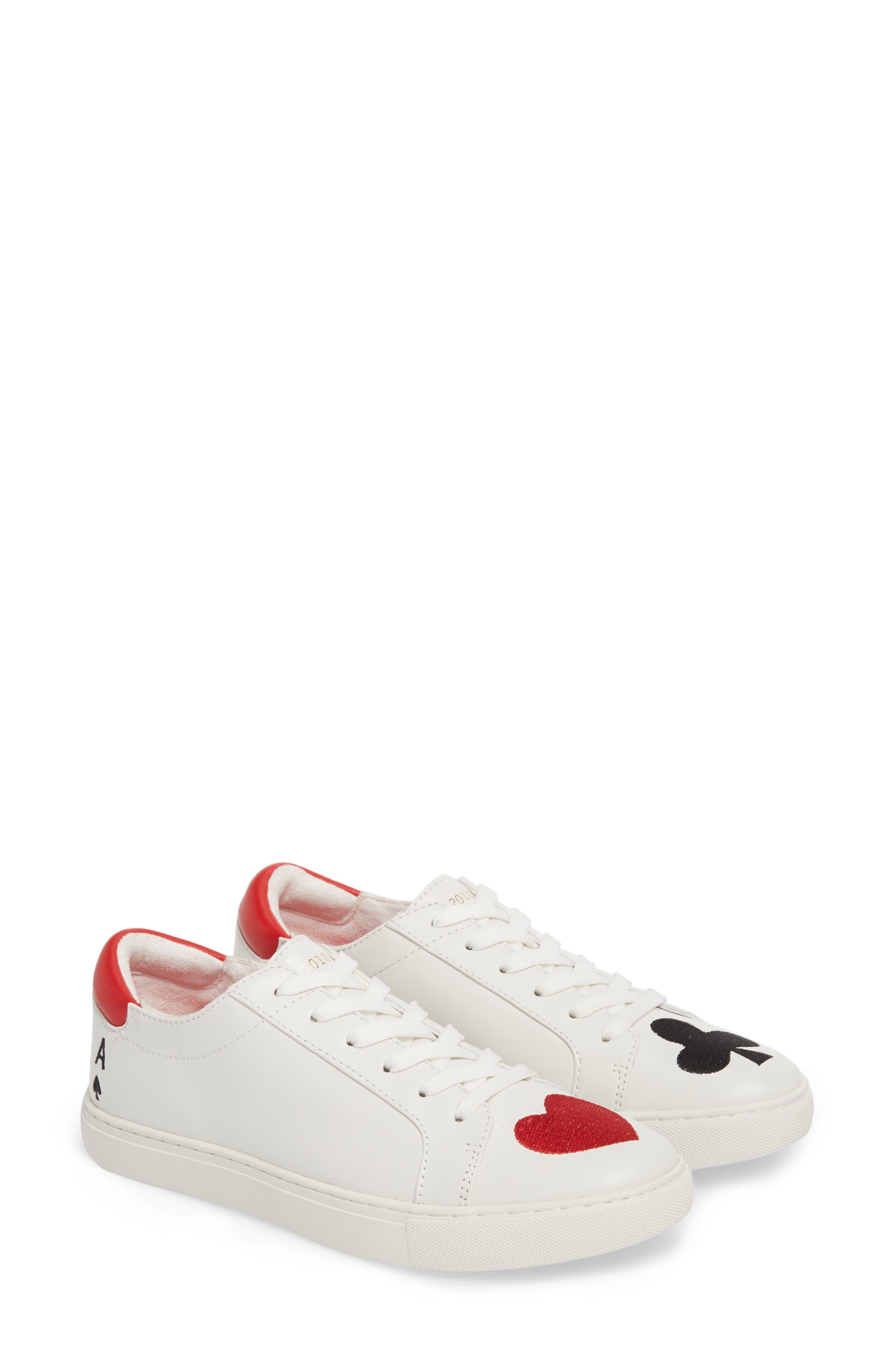 'Kam' Sneaker,                             Alternate thumbnail 2, color,                             White Red Black Leather