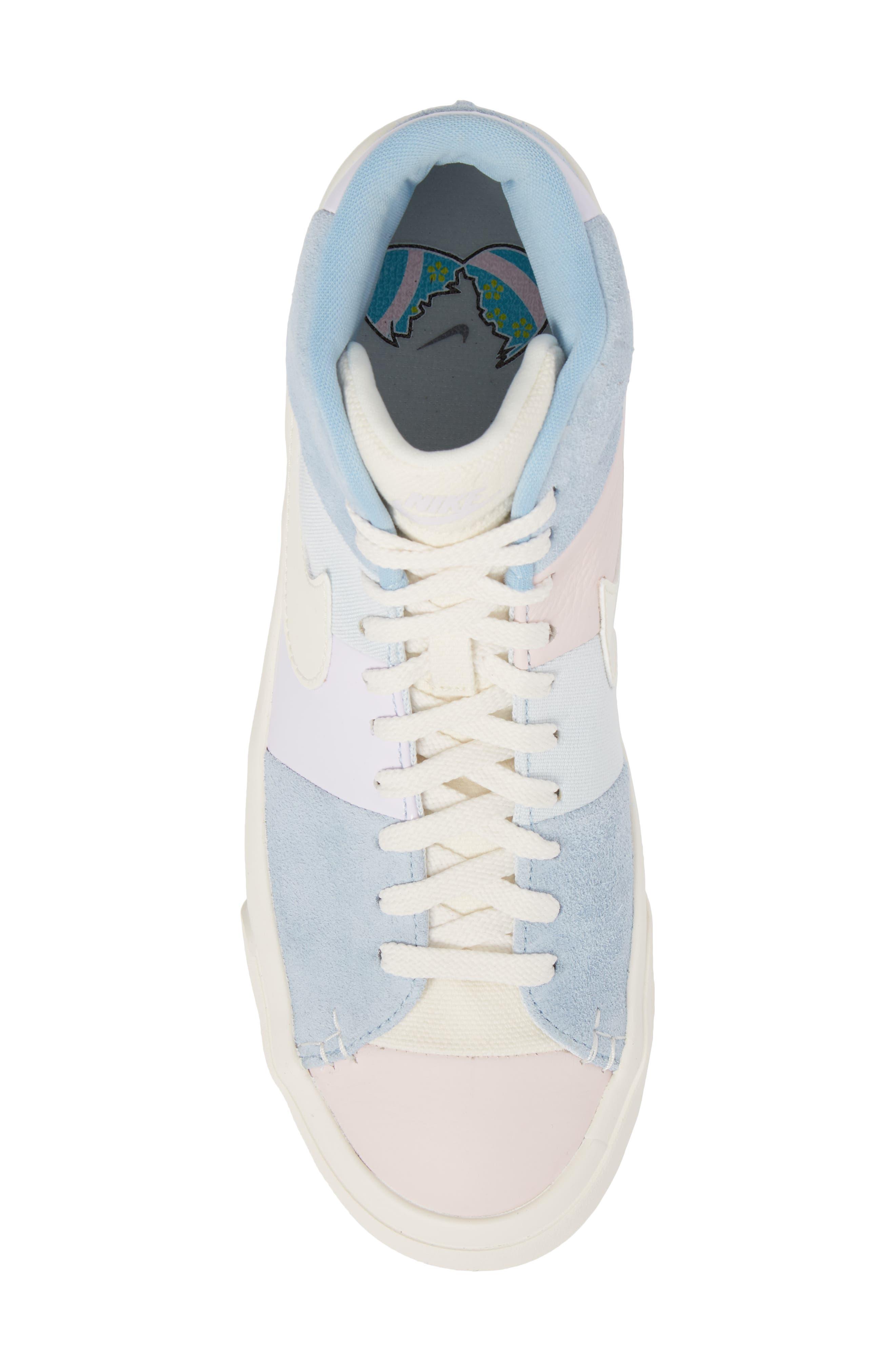 Blazer Royal Easter QS High Top Sneaker,                             Alternate thumbnail 5, color,                             Arctic Pink/ Sail-Blue-Blue