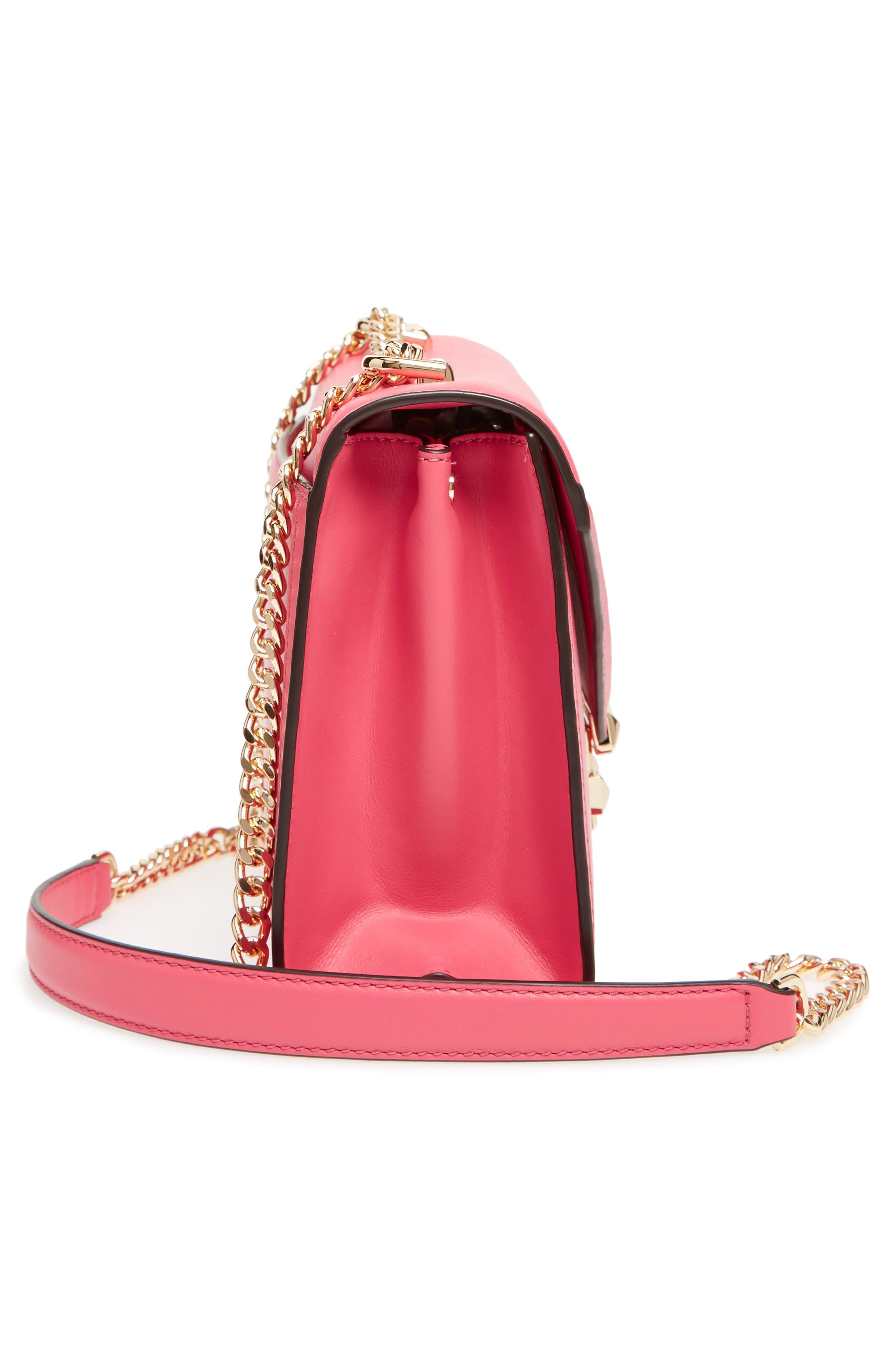 Large Whitney Leather Shoulder Bag,                             Alternate thumbnail 5, color,                             Rose Pink
