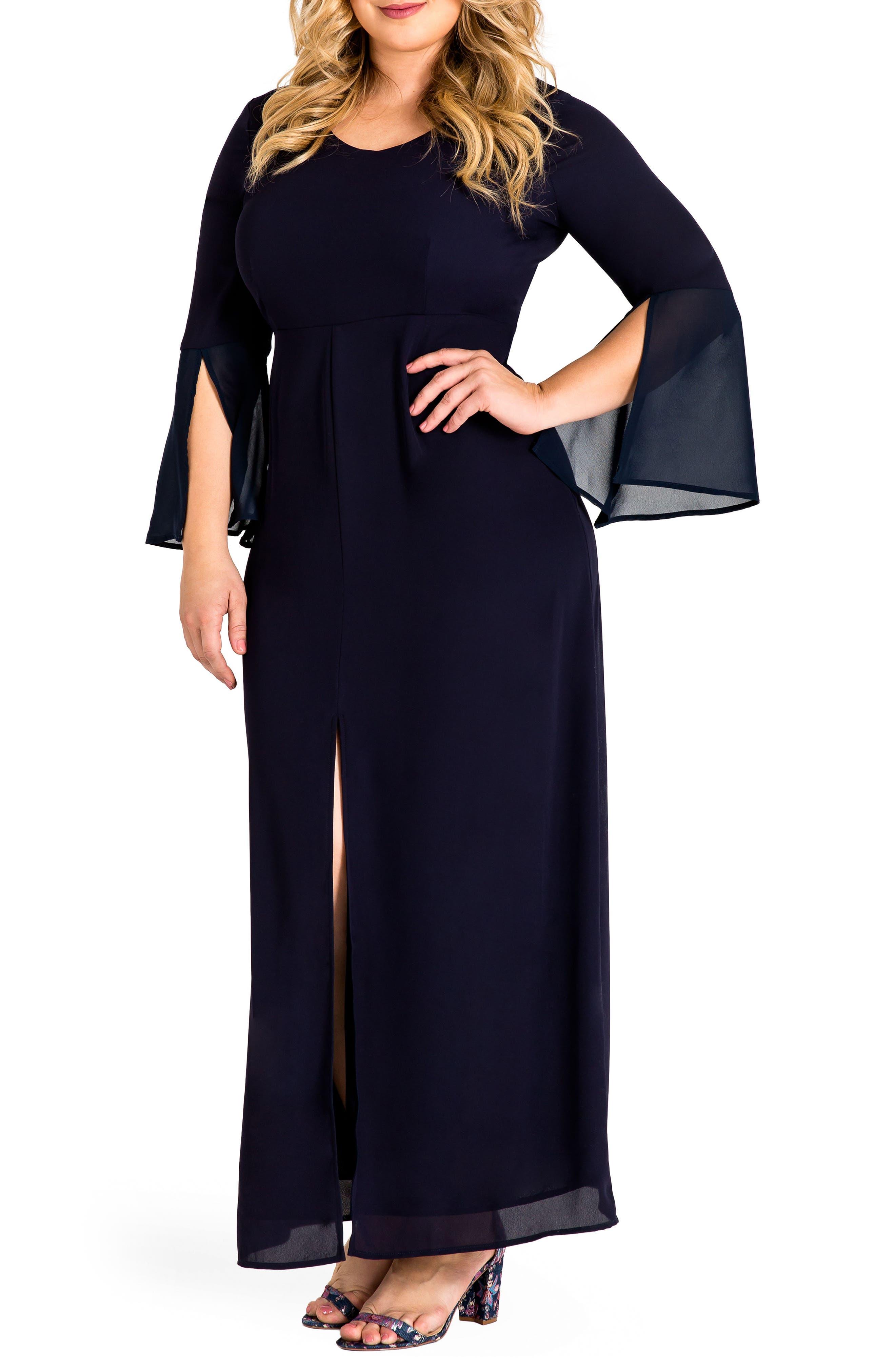 Norah Maxi Dress,                             Main thumbnail 1, color,                             Navy