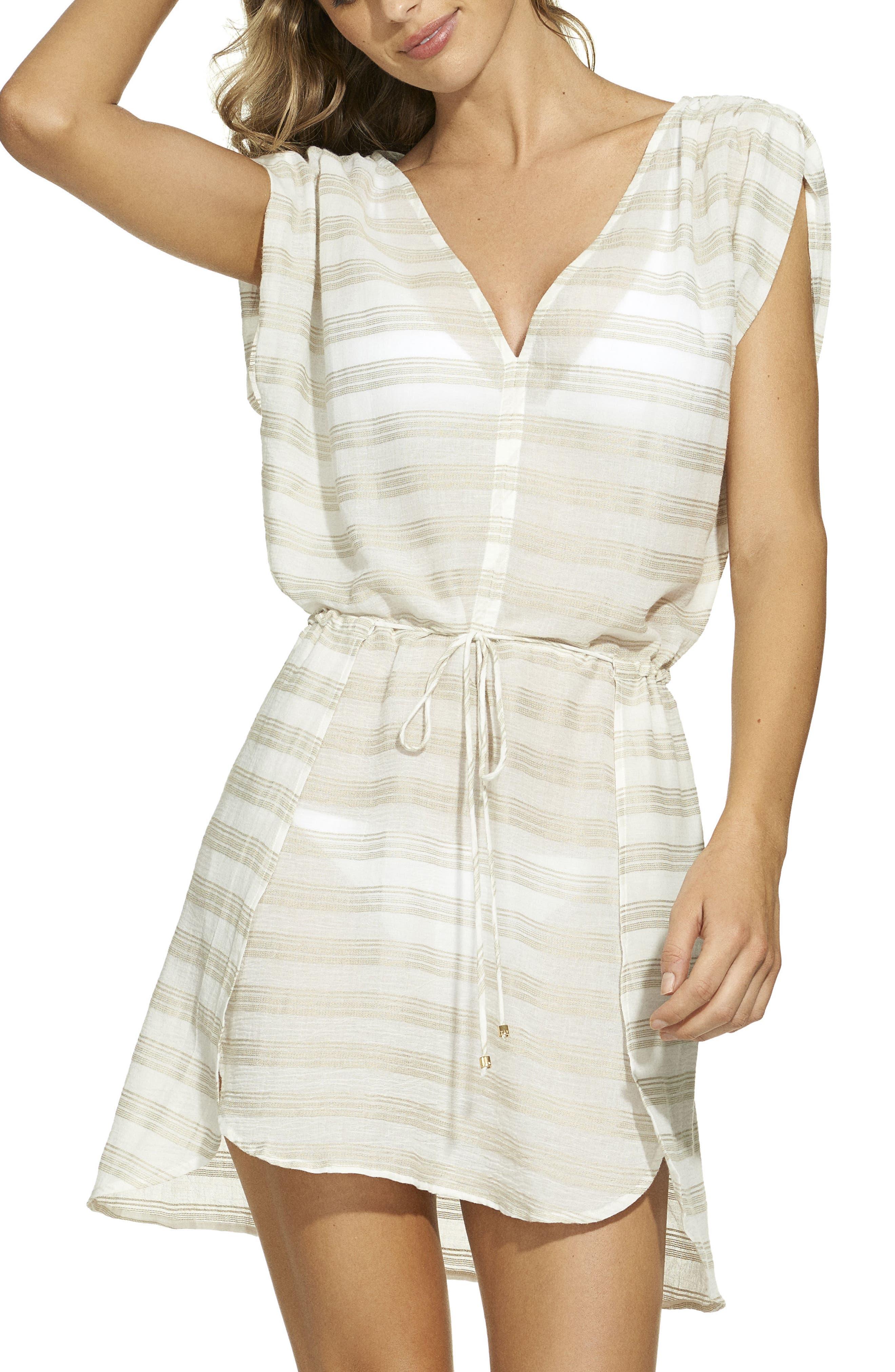 ViX Agatha Cover-Up Caftan,                         Main,                         color, Off White