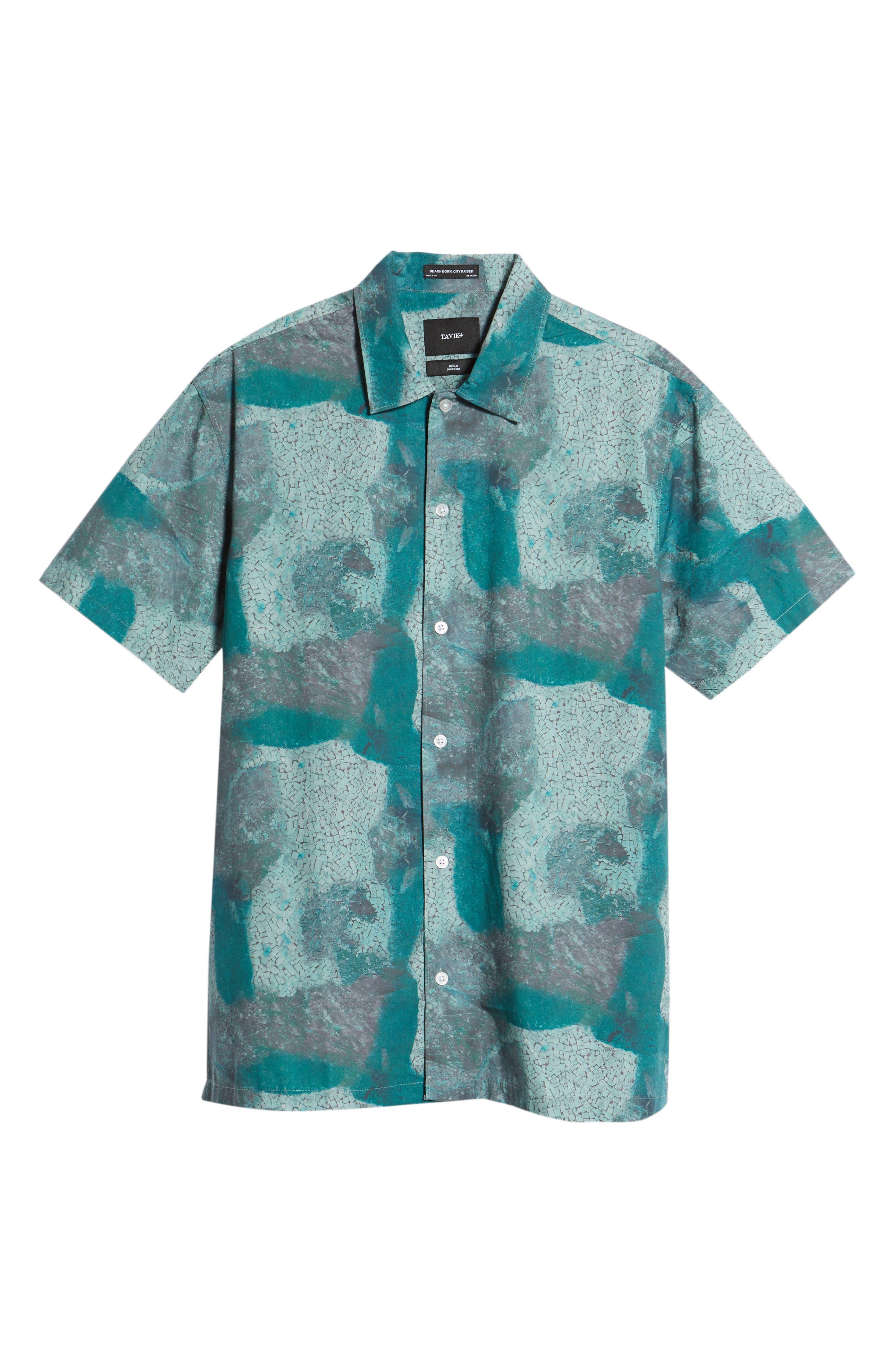 Villa Desert Woven Shirt,                             Alternate thumbnail 6, color,                             Pacific Green Desert