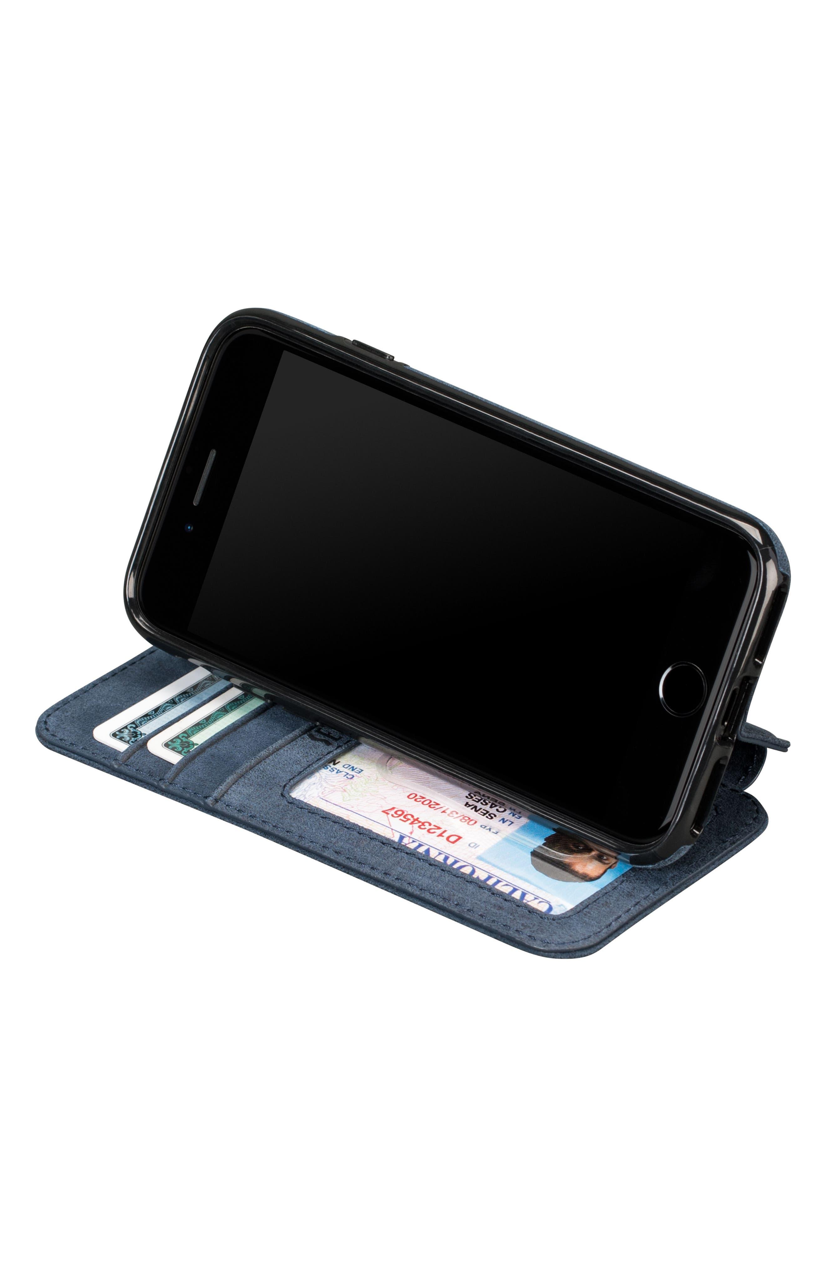 Bence iPhone 7/8 Walletbook,                             Alternate thumbnail 4, color,                             Denim