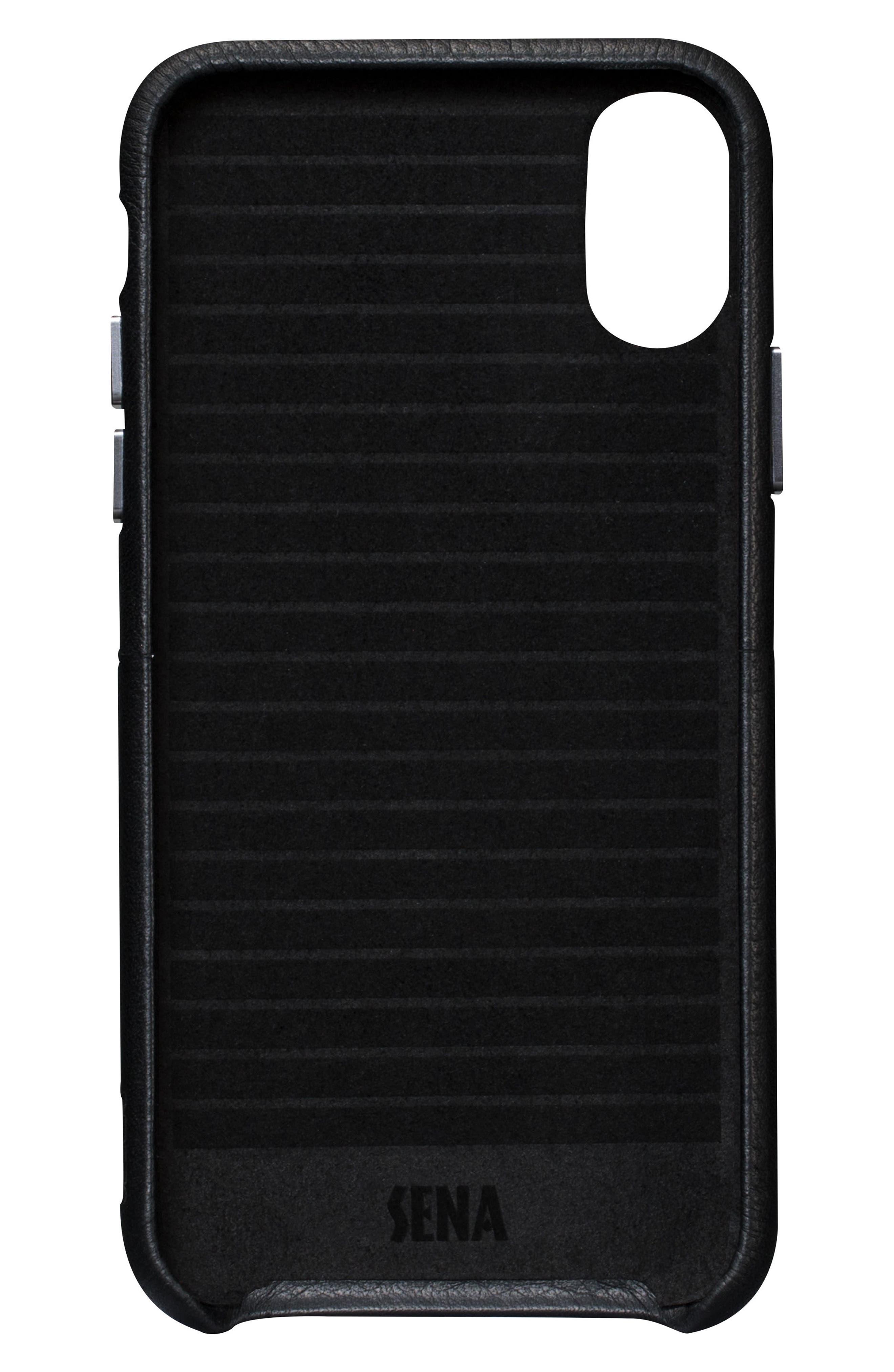 iPhone X Snap Wallet Case,                             Alternate thumbnail 3, color,                             Black