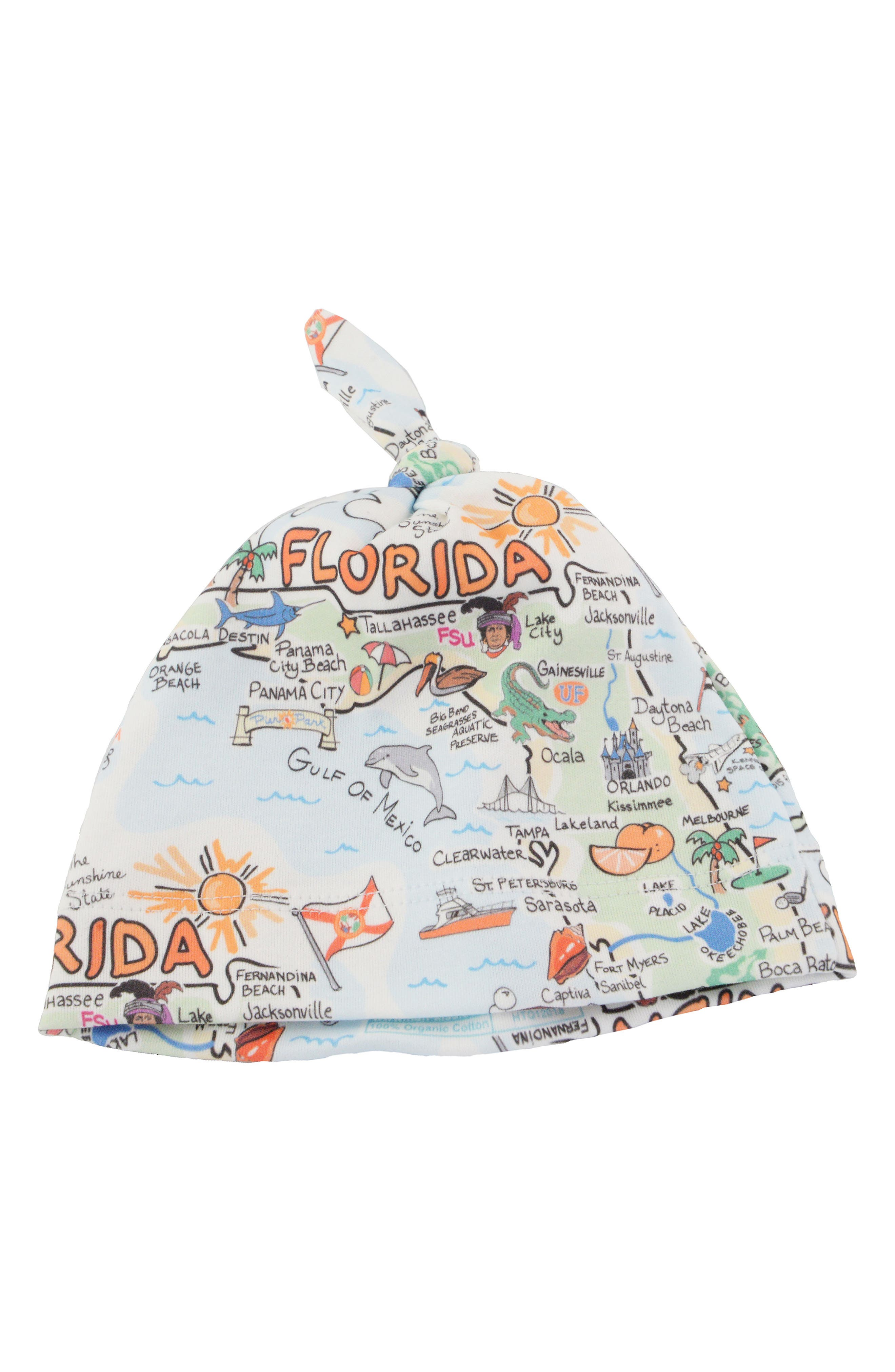 State Map Beanie,                             Main thumbnail 1, color,                             Florida