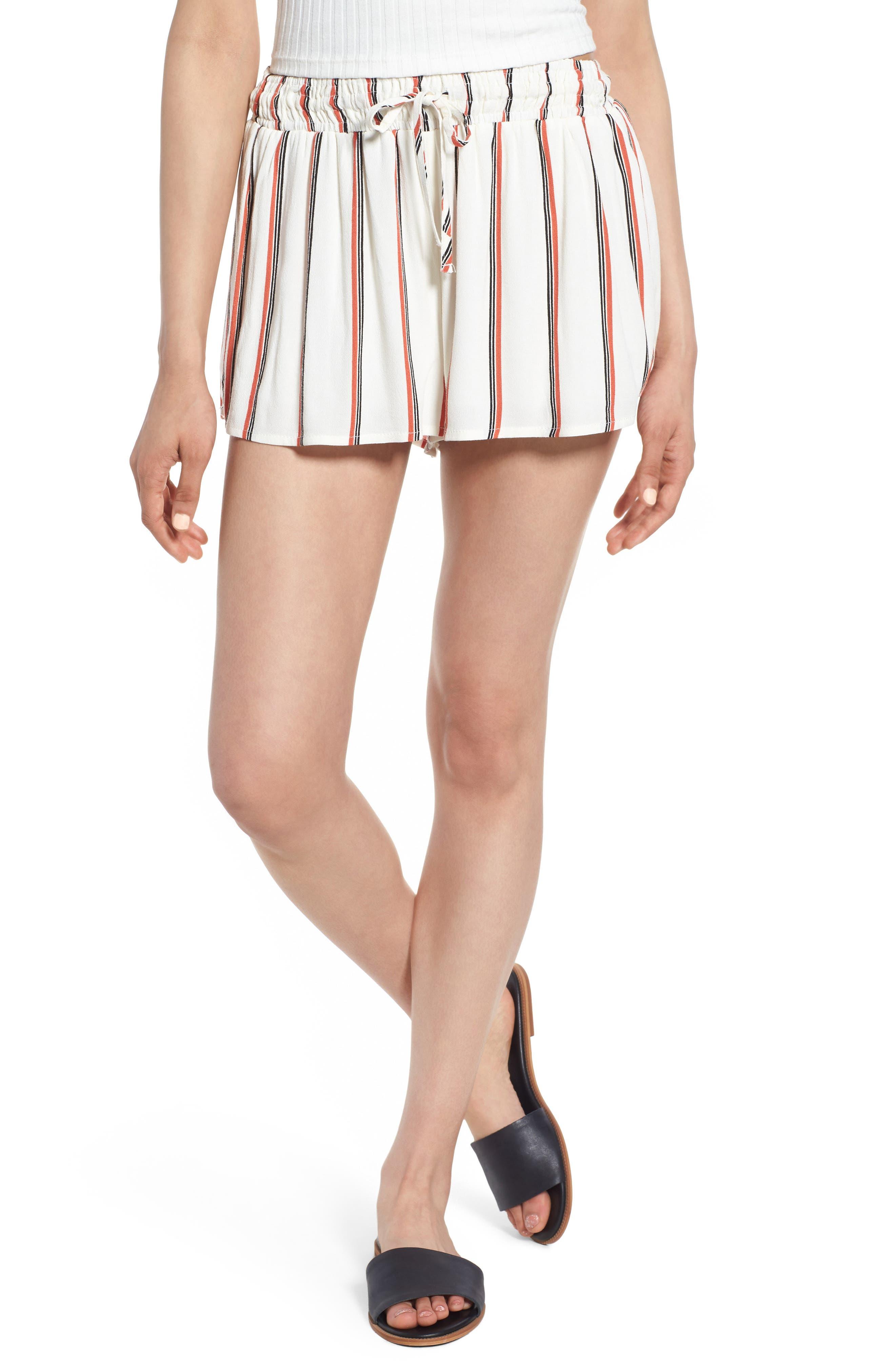 Juniper Stripe Shorts,                             Main thumbnail 1, color,                             Ivory