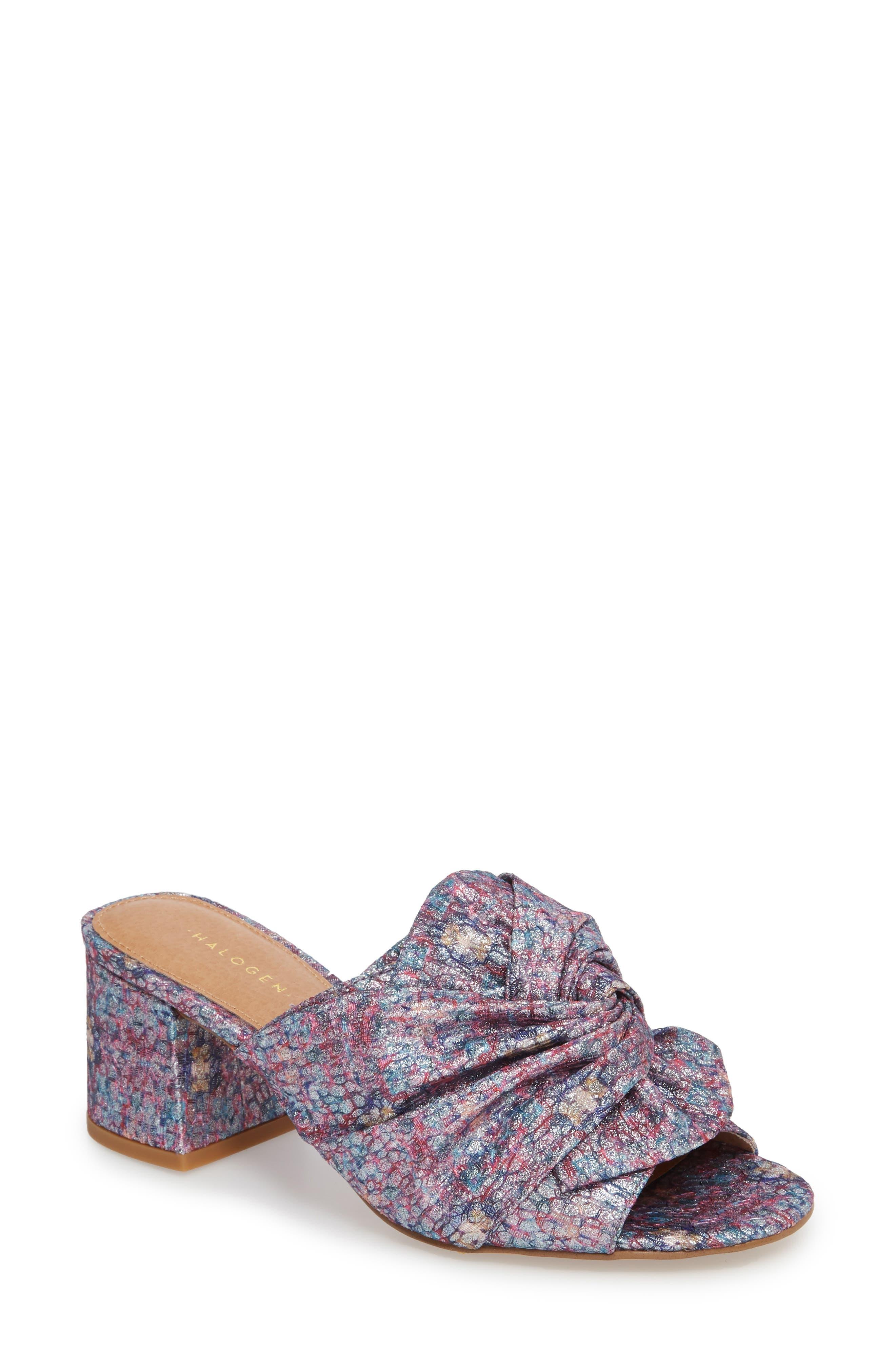 Farrah Sandal,                         Main,                         color, Bright Confetti Fabric