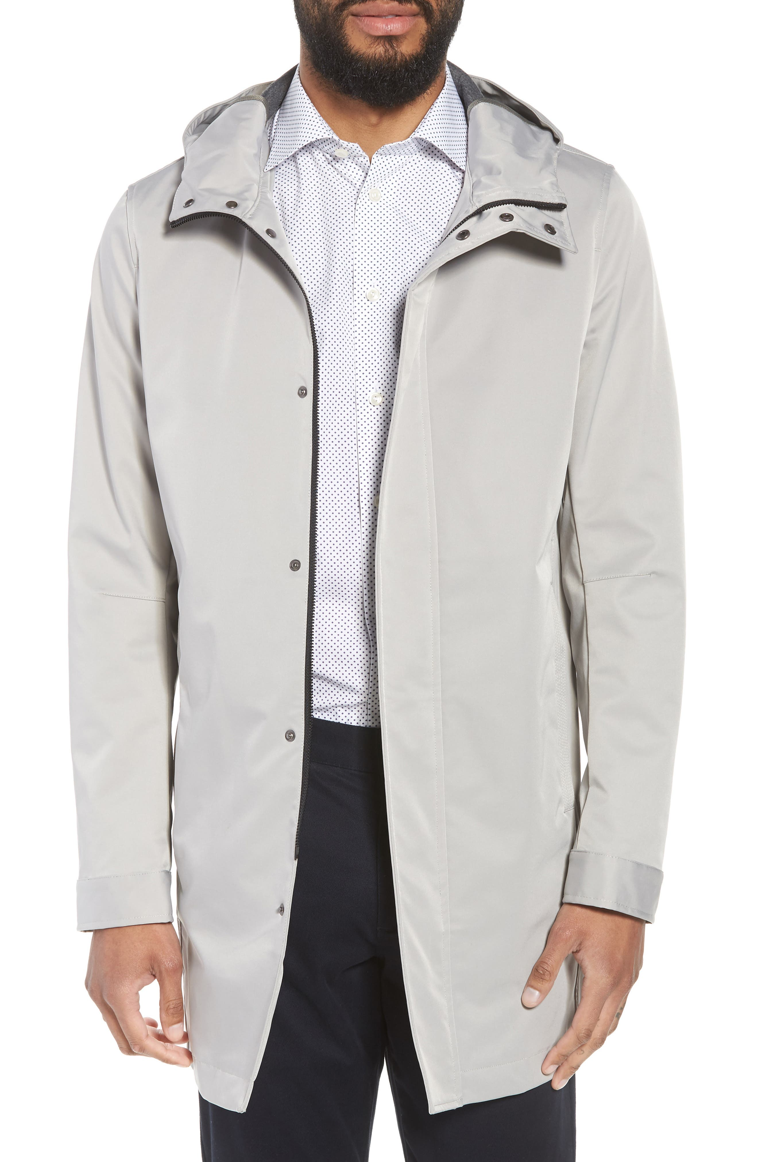 Verner Hooded Mac Jacket,                         Main,                         color, Taupe