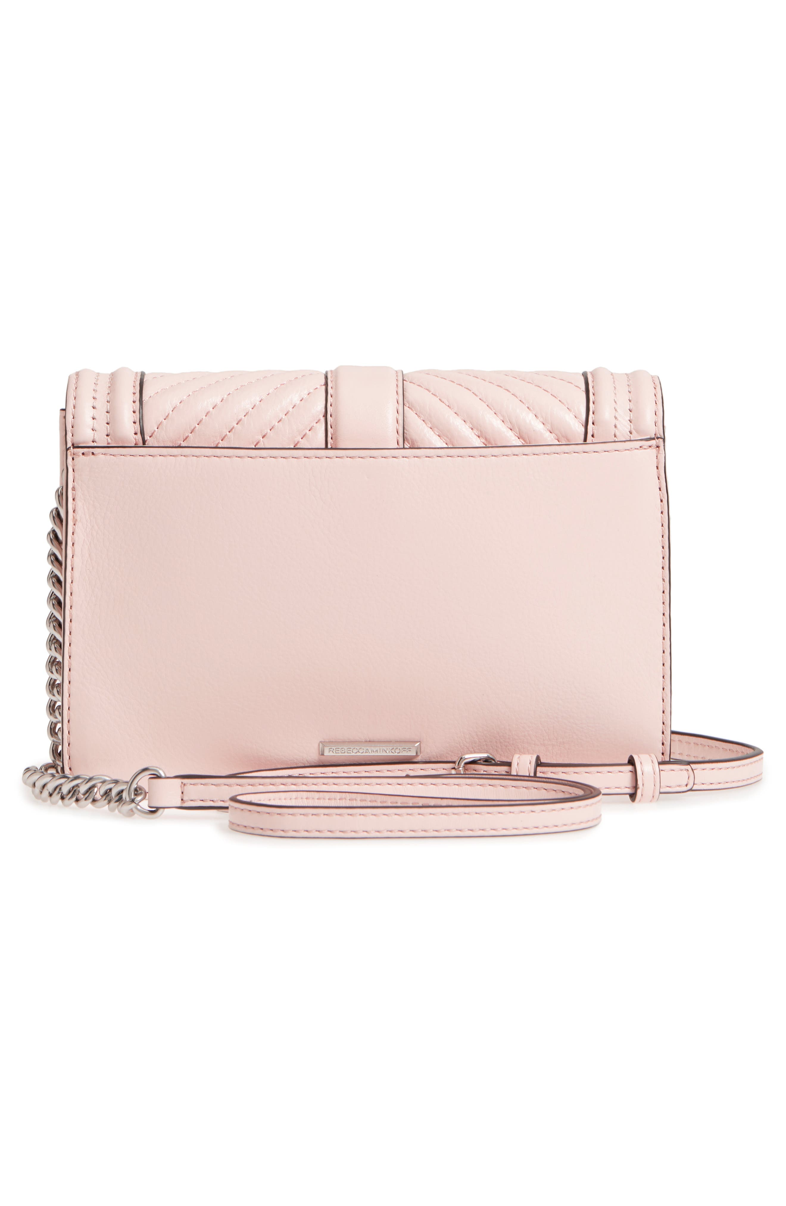 Small Love Leather Crossbody Bag,                             Alternate thumbnail 3, color,                             Peony