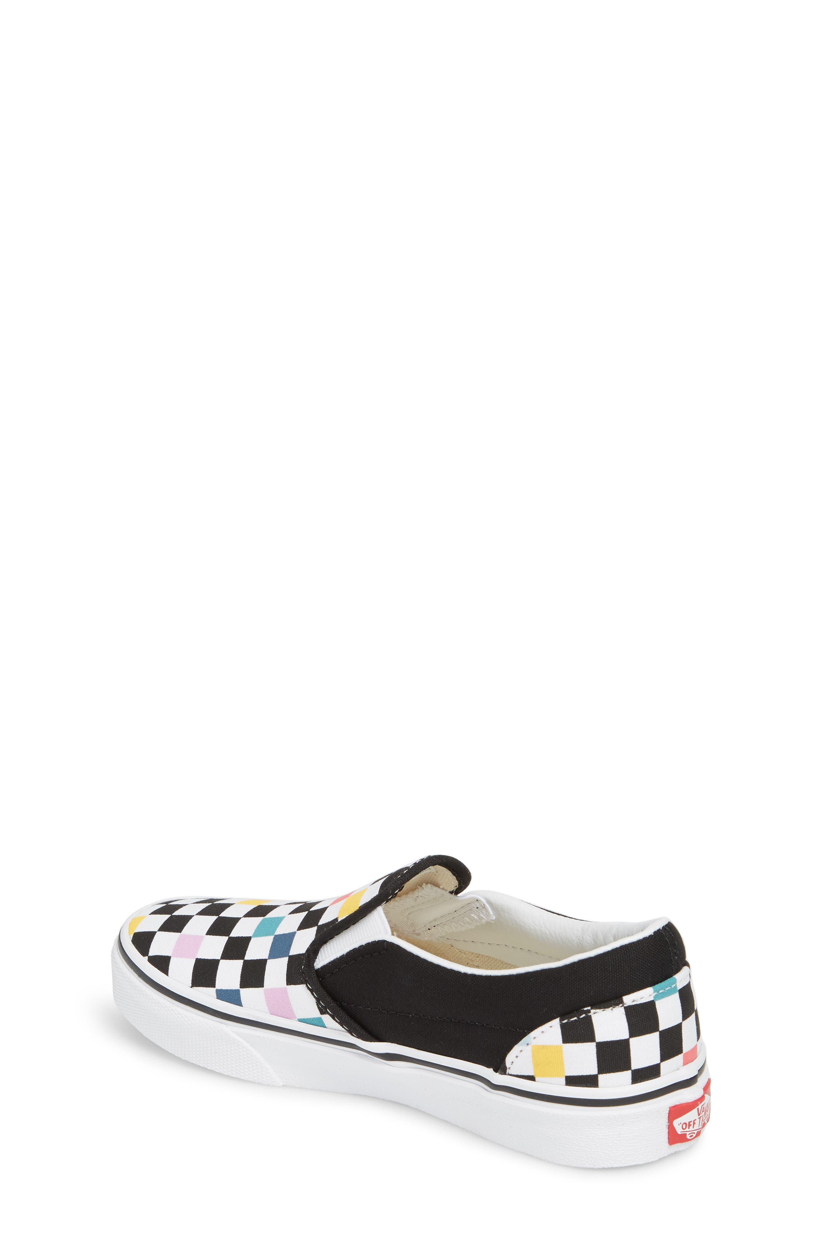 Party Check Slip-On Sneaker,                             Alternate thumbnail 2, color,                             Party Checker Multi/ Black