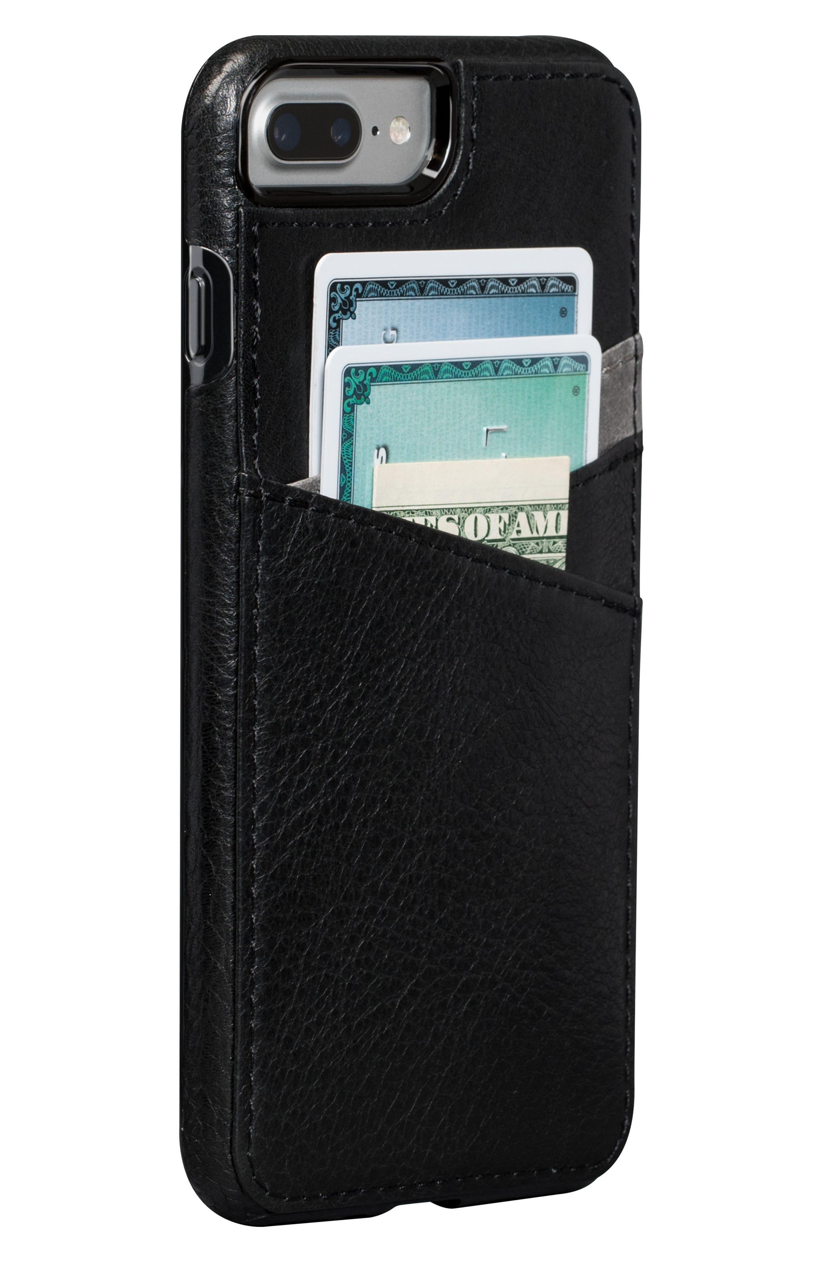 Bence Lugano iPhone 7/8 Plus Wallet Case,                             Main thumbnail 1, color,                             Black