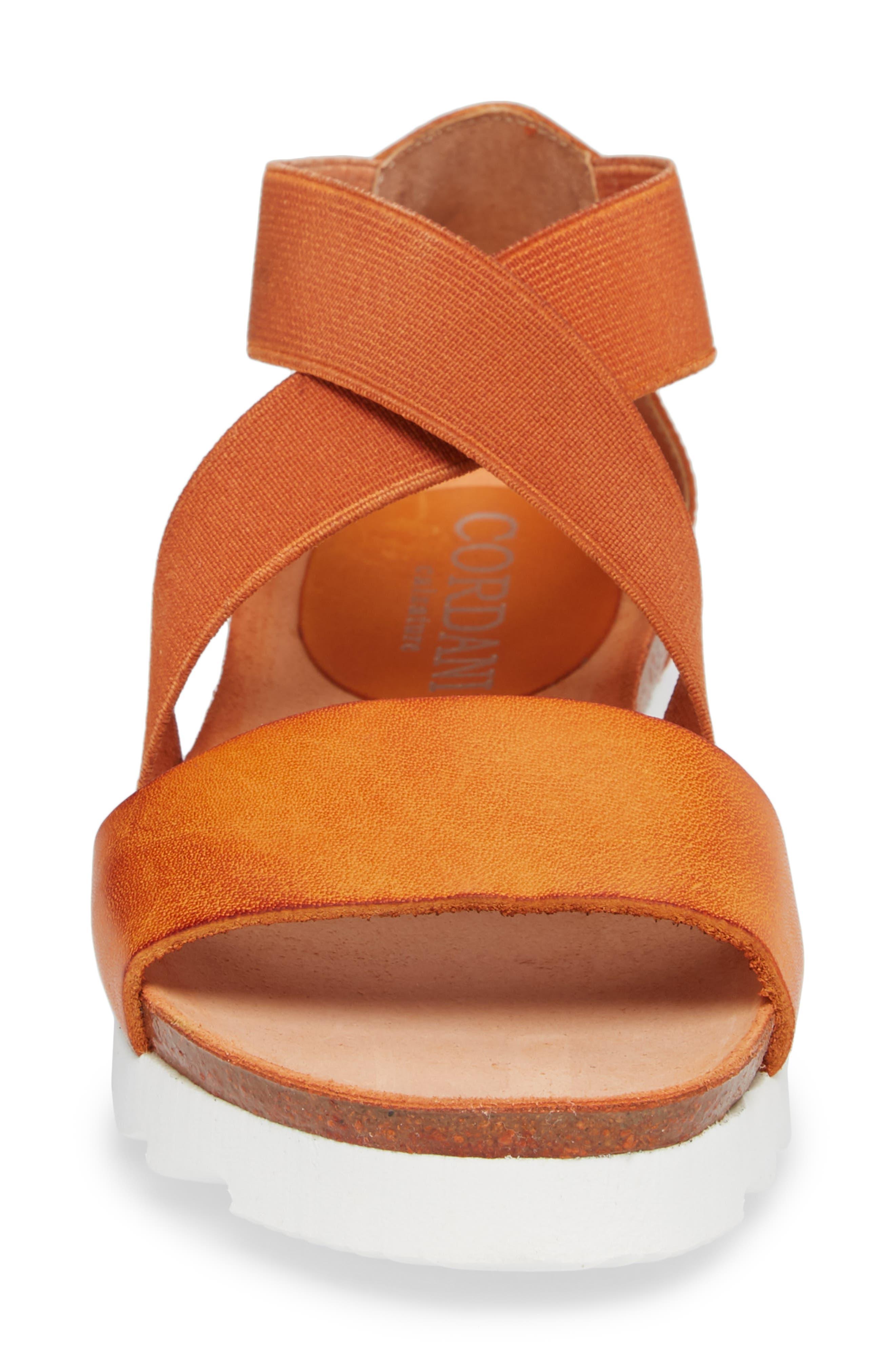 Sayger Sandal,                             Alternate thumbnail 4, color,                             Orange Leather