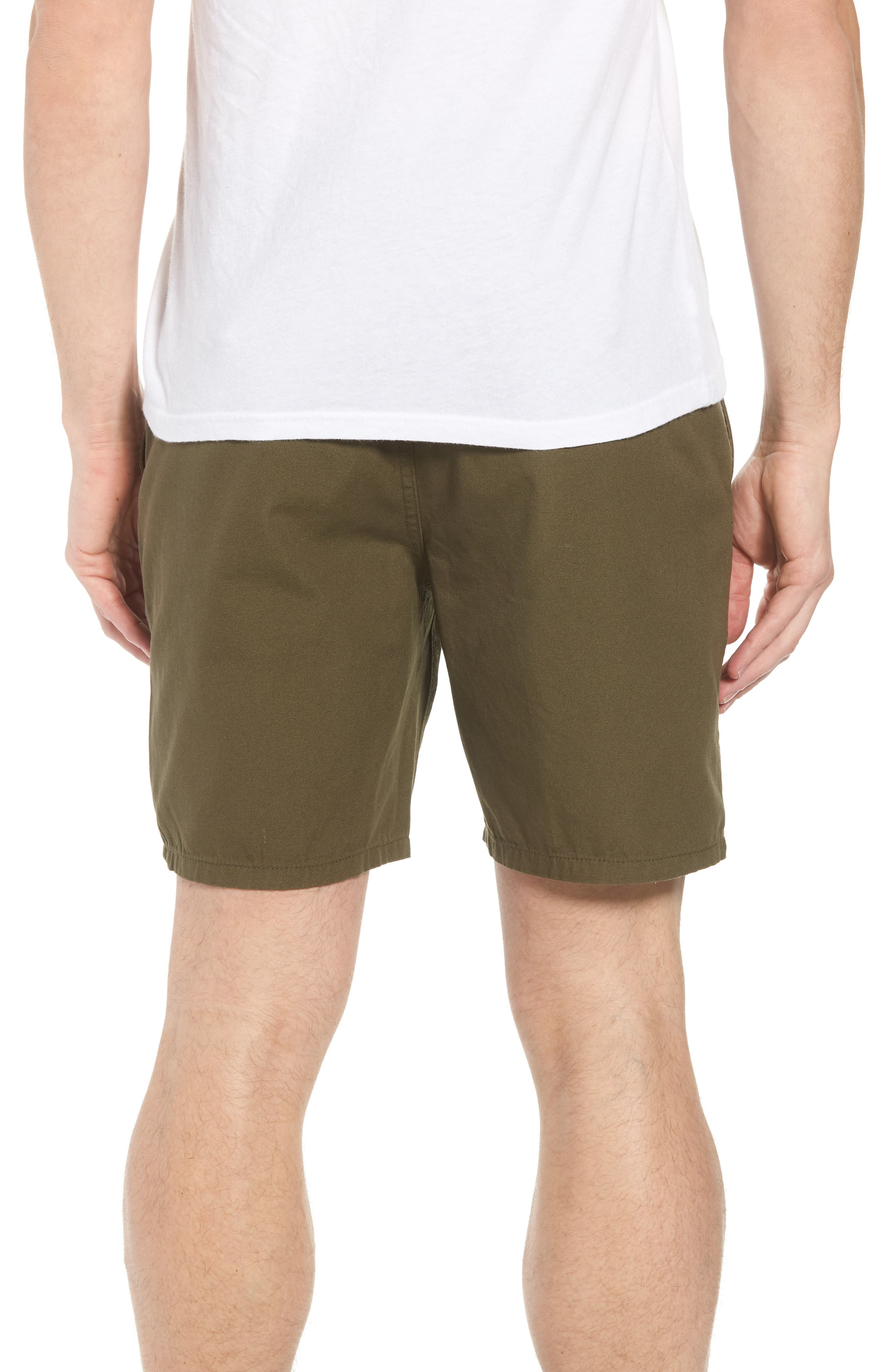 Collins Canvas Shorts,                             Alternate thumbnail 2, color,                             Fatigue Green