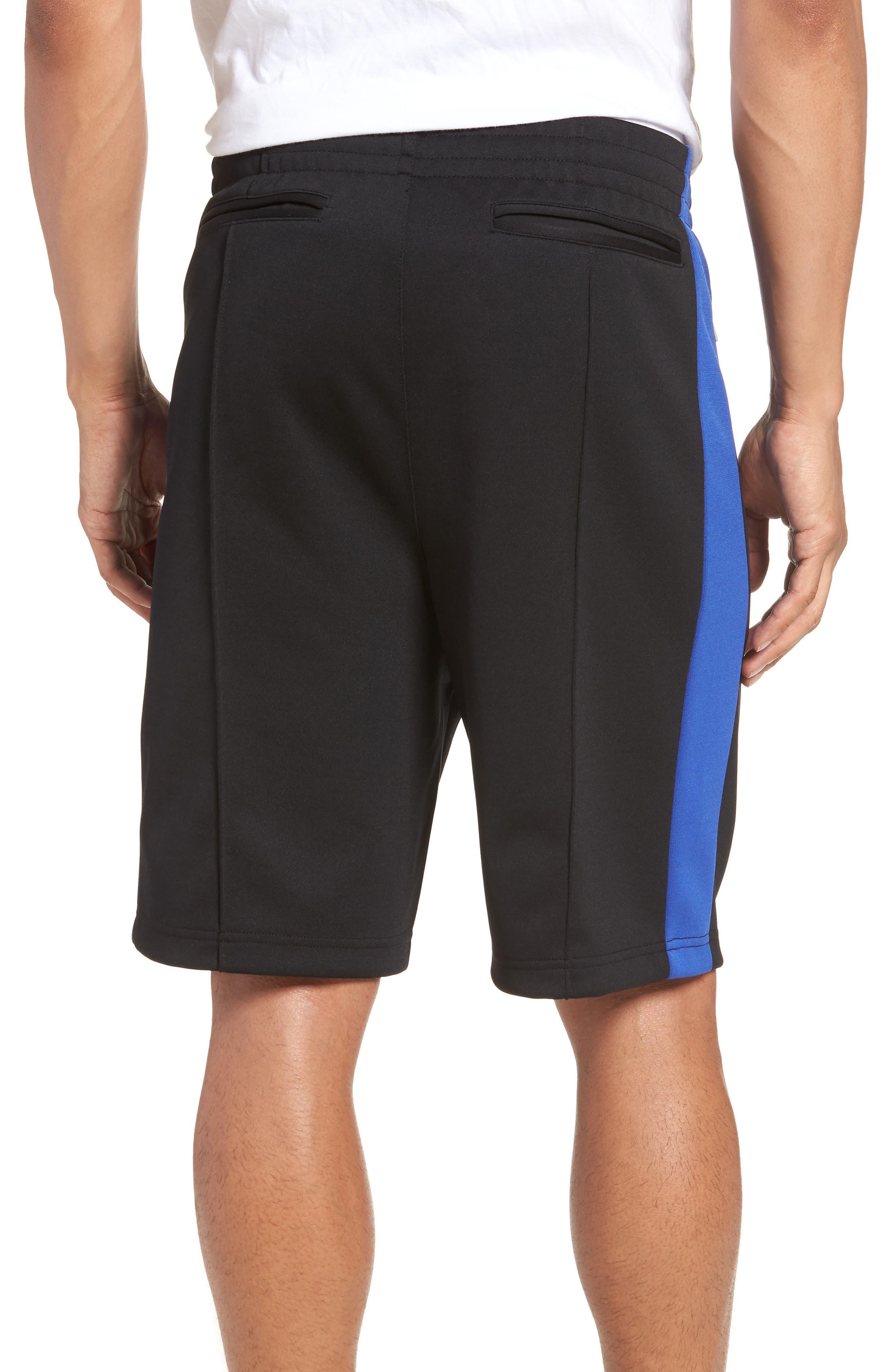 Stripe Shorts,                             Alternate thumbnail 2, color,                             Blue/ White/ Black