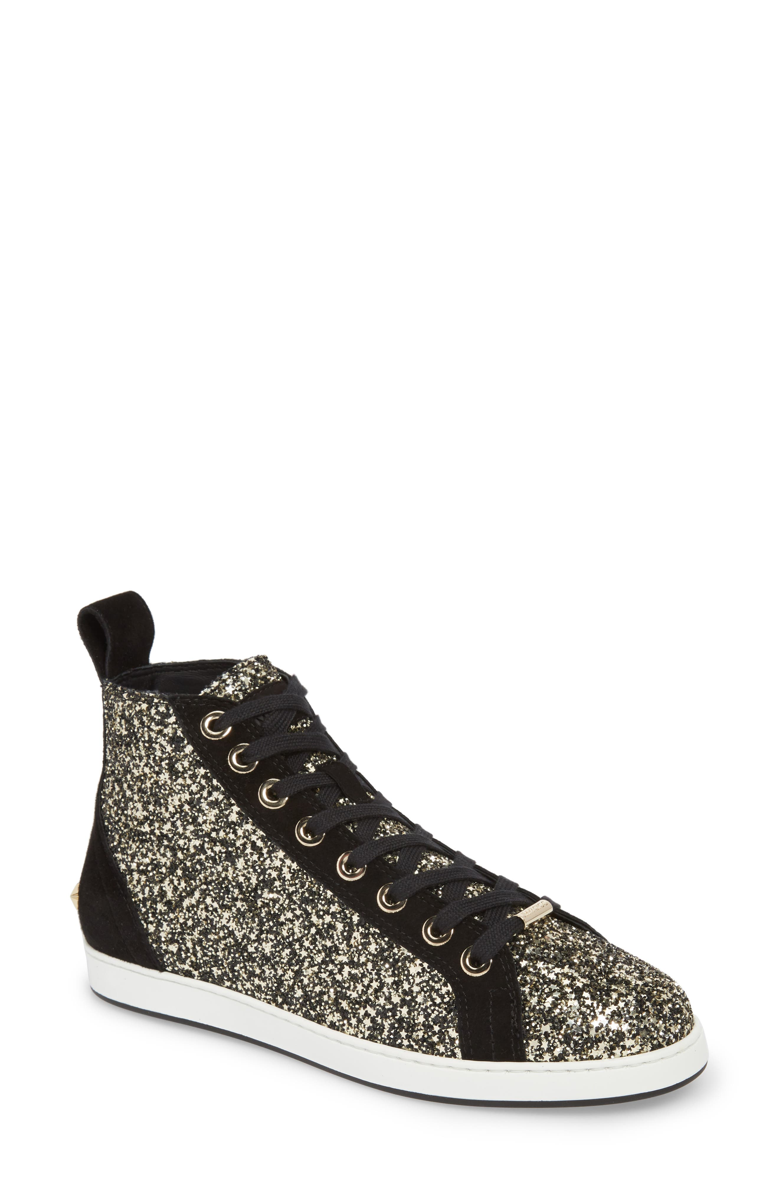 Jimmy Choo Colt Glitter High Top Sneaker (Women)