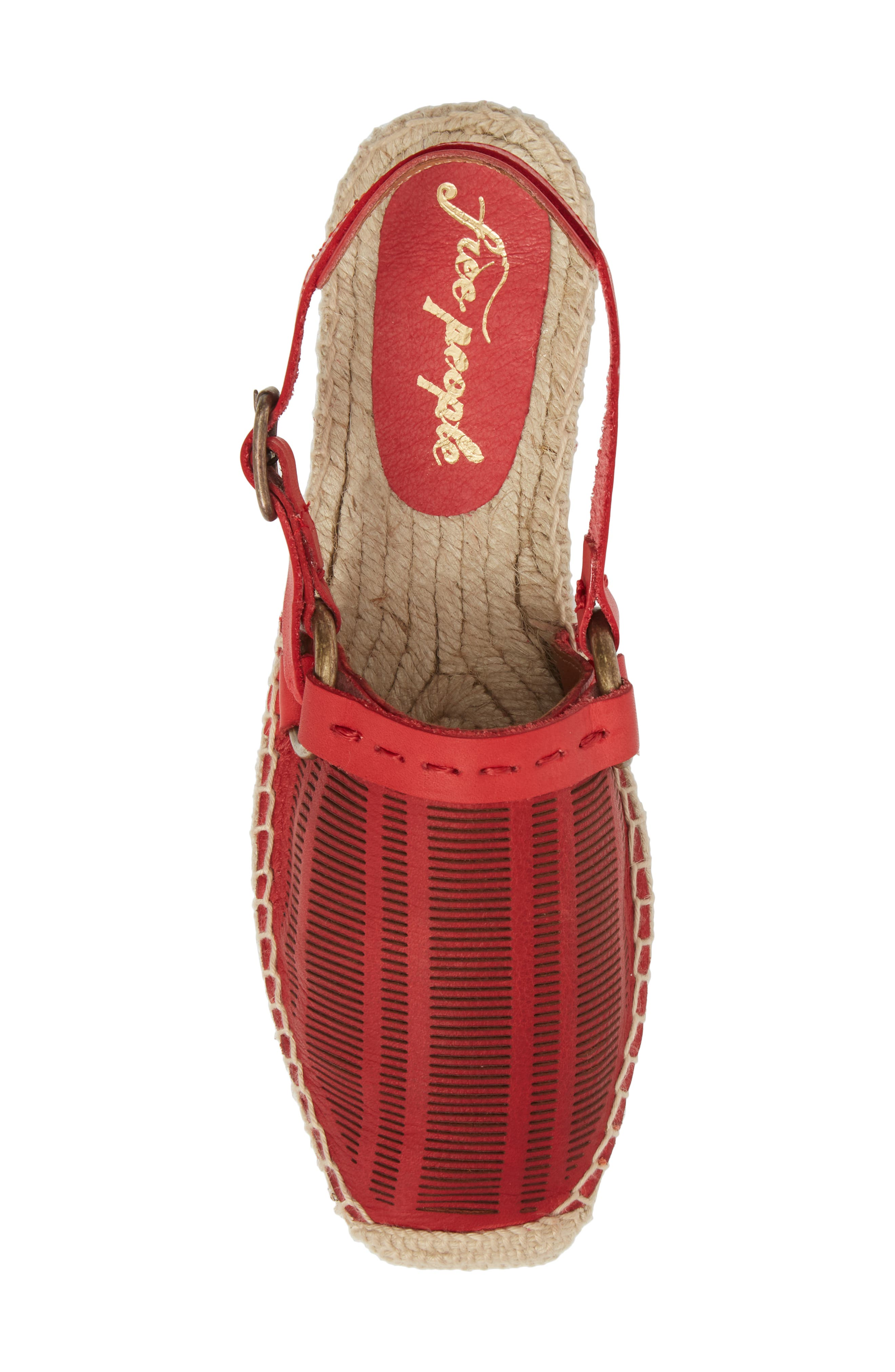 Cabo Espadrille Flat,                             Alternate thumbnail 7, color,                             Red