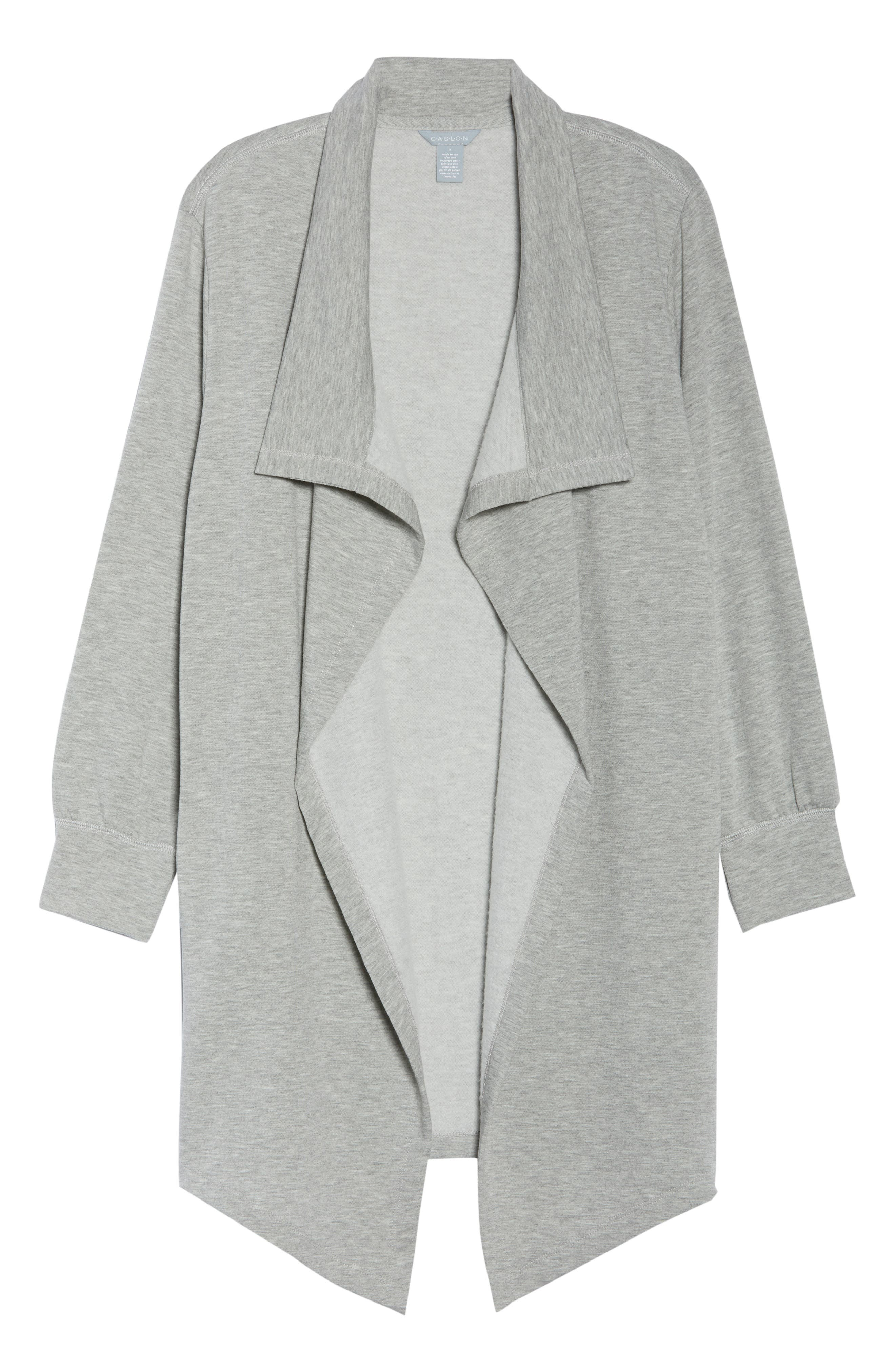 Off-Duty Fleece Knit Cardigan,                         Main,                         color, Grey Heather