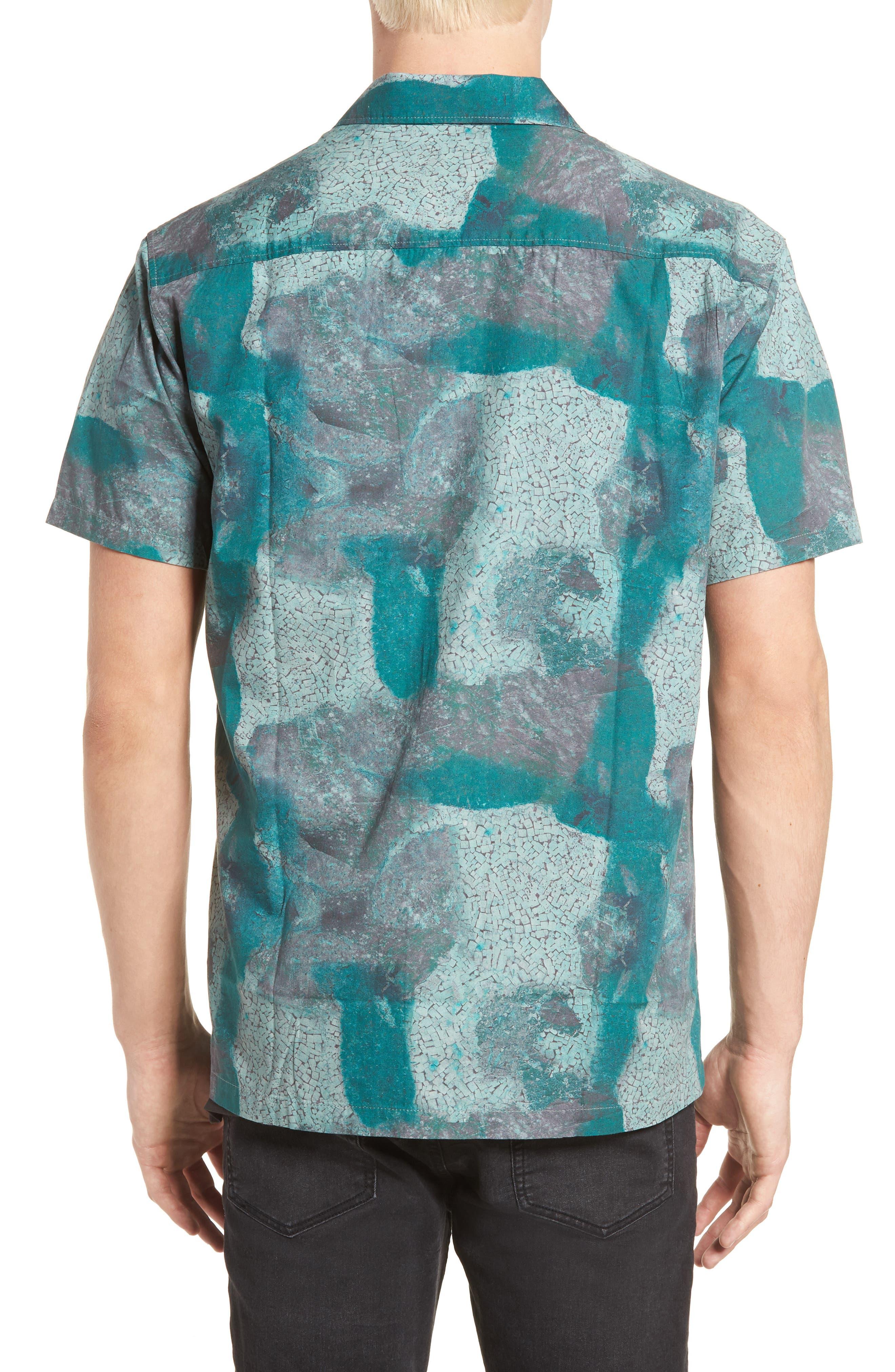 Villa Desert Woven Shirt,                             Alternate thumbnail 3, color,                             Pacific Green Desert