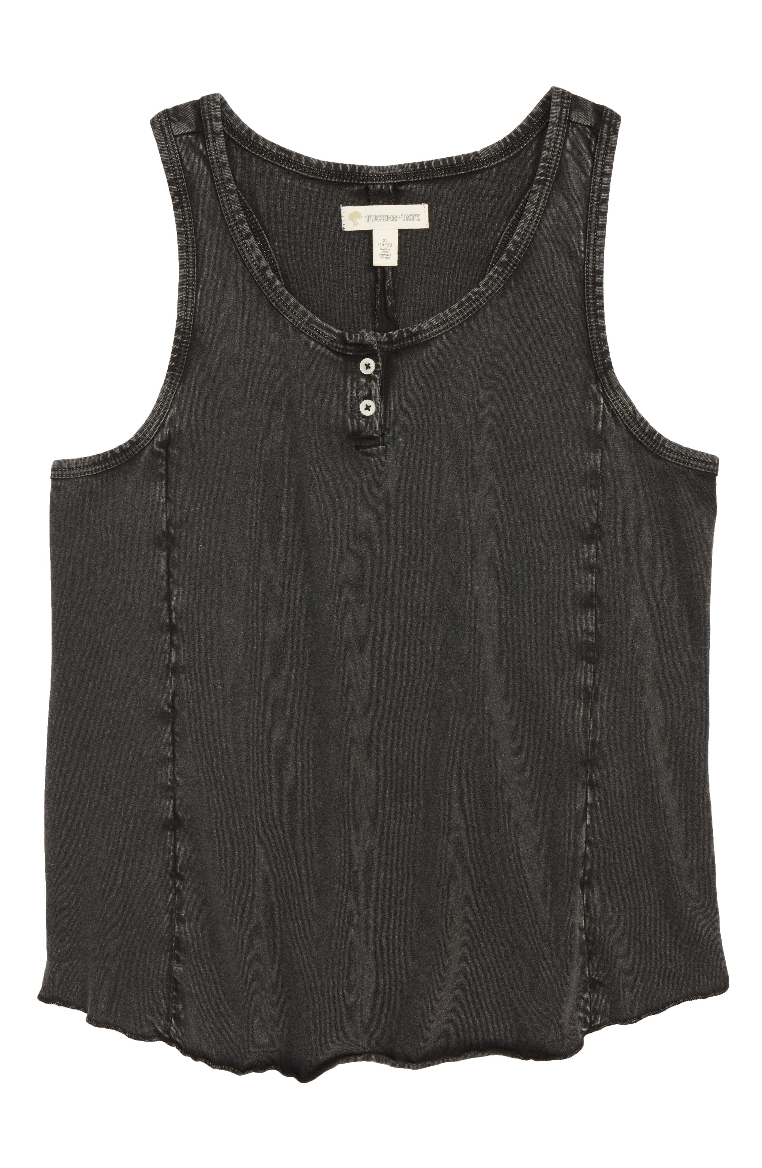 Tucker + Tate Merrow Edge Henley Tank (Big Girls)