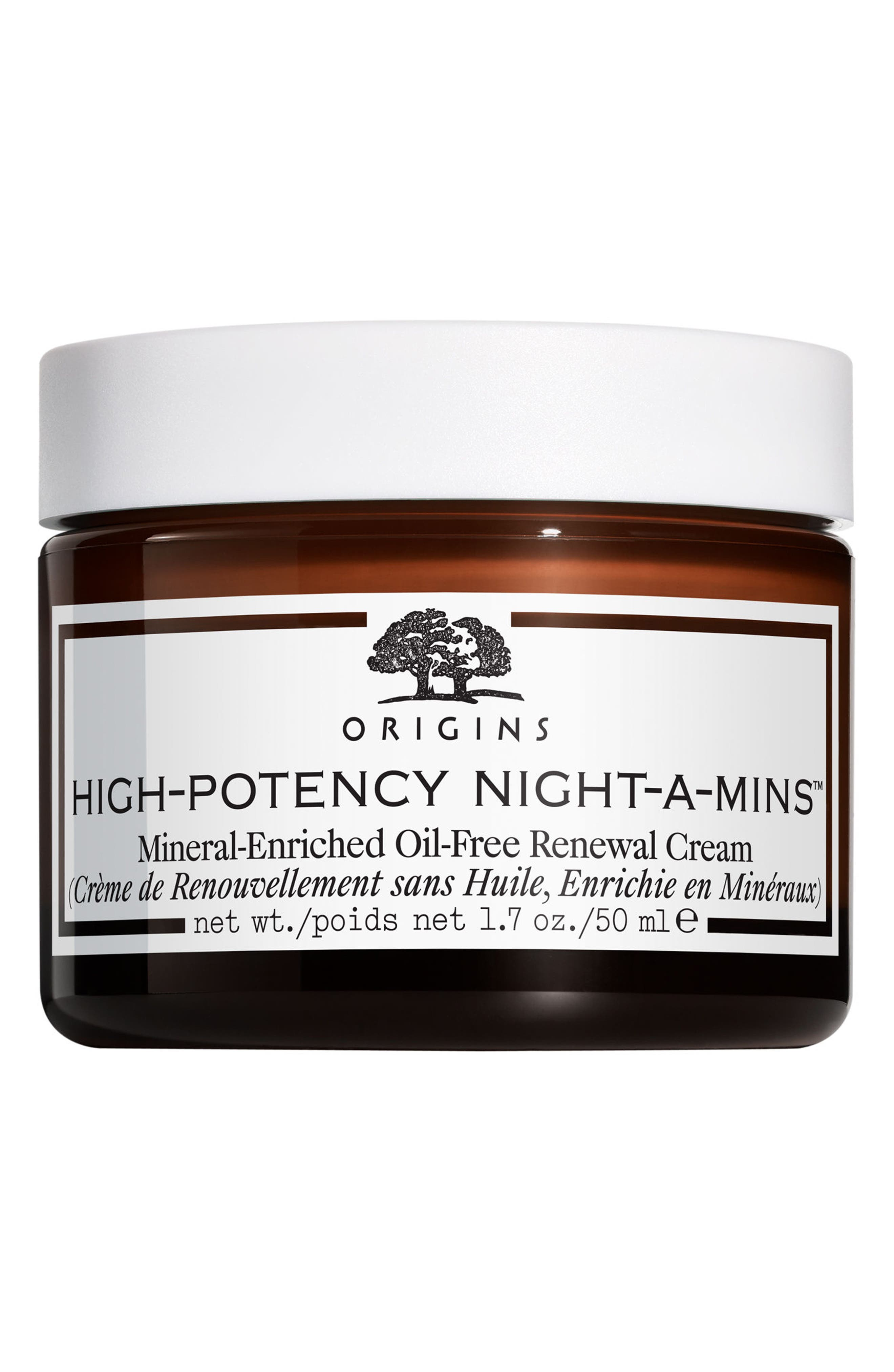 High-Potency Night-A-Mins<sup>™</sup> Mineral-Enriched Oil-Free Renewal Cream,                         Main,                         color, No Color