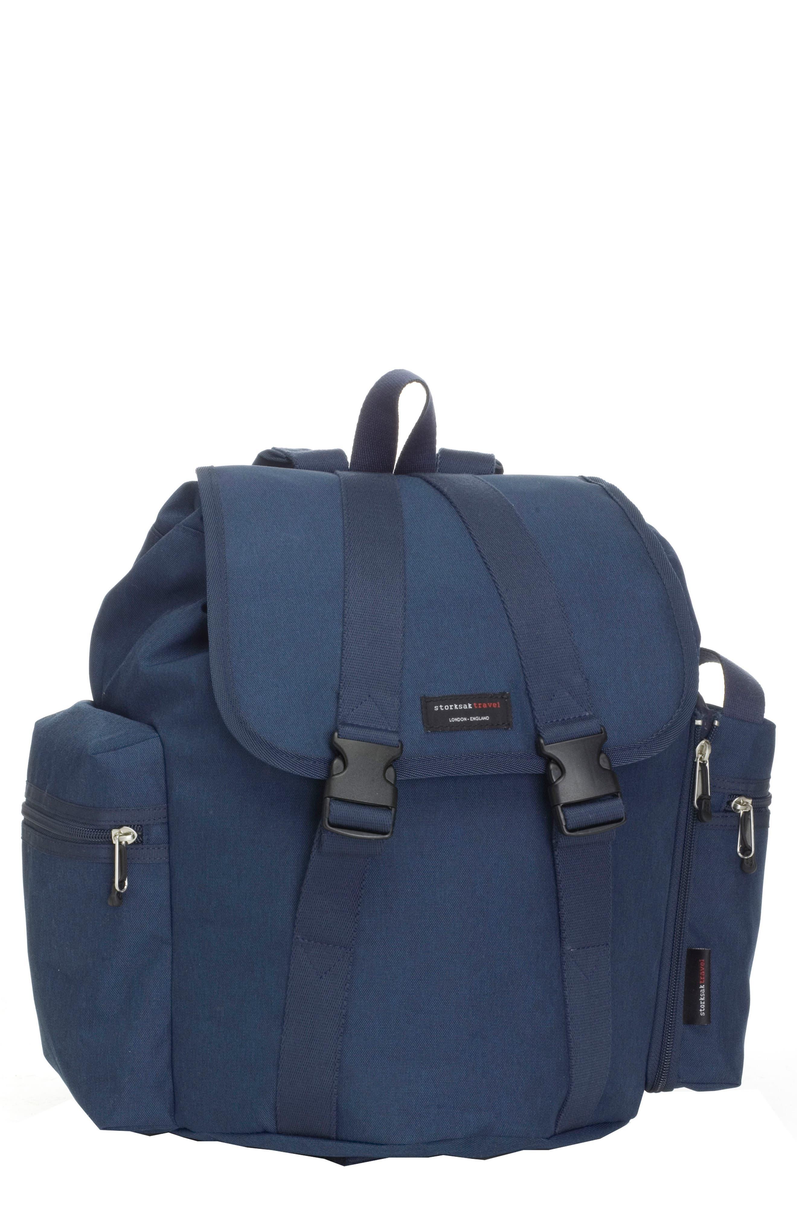 Travel Backpack Diaper Bag,                         Main,                         color, Navy
