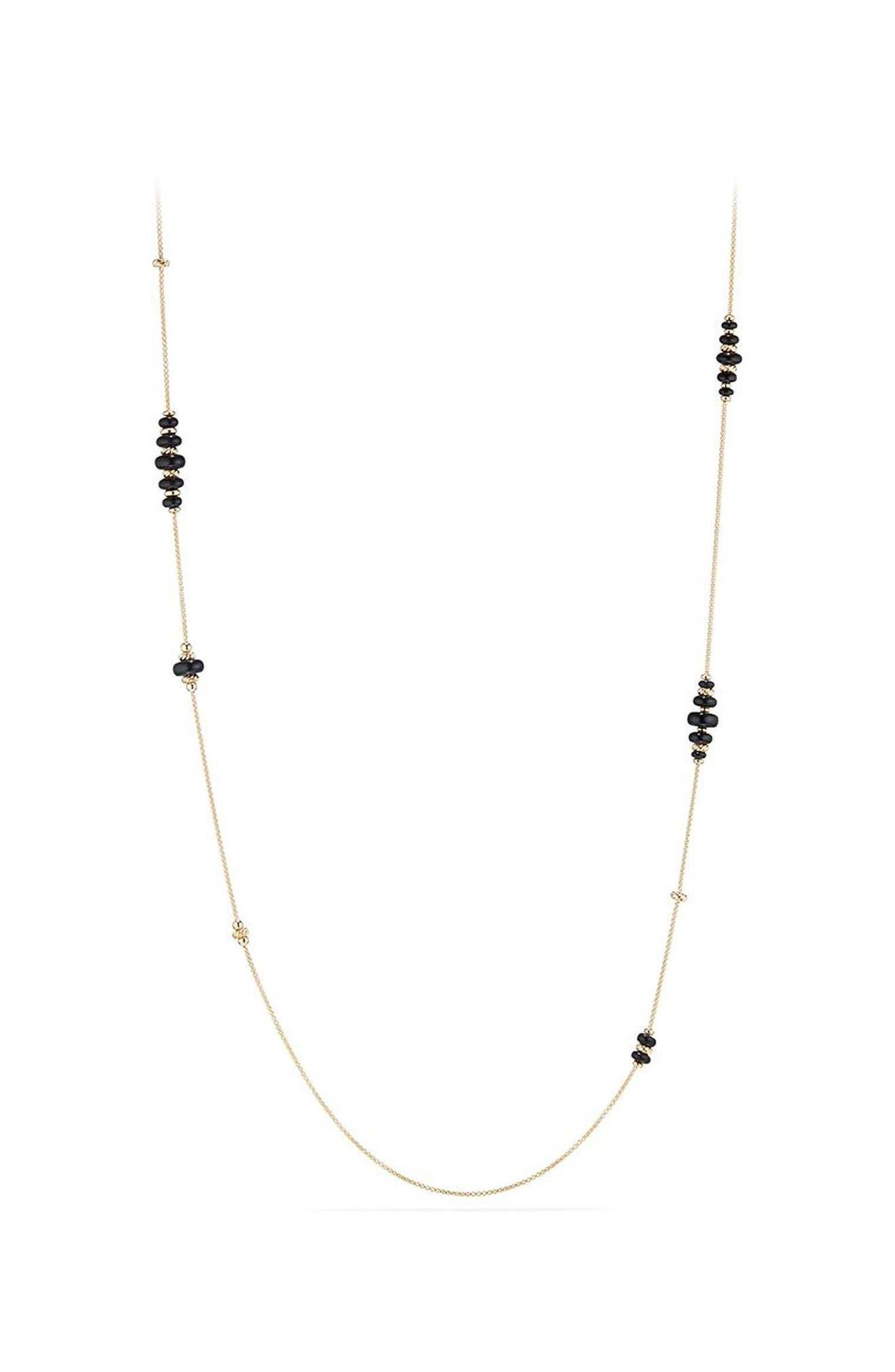 David Yurman Rio Rondelle Long 18K Gold Station Necklace