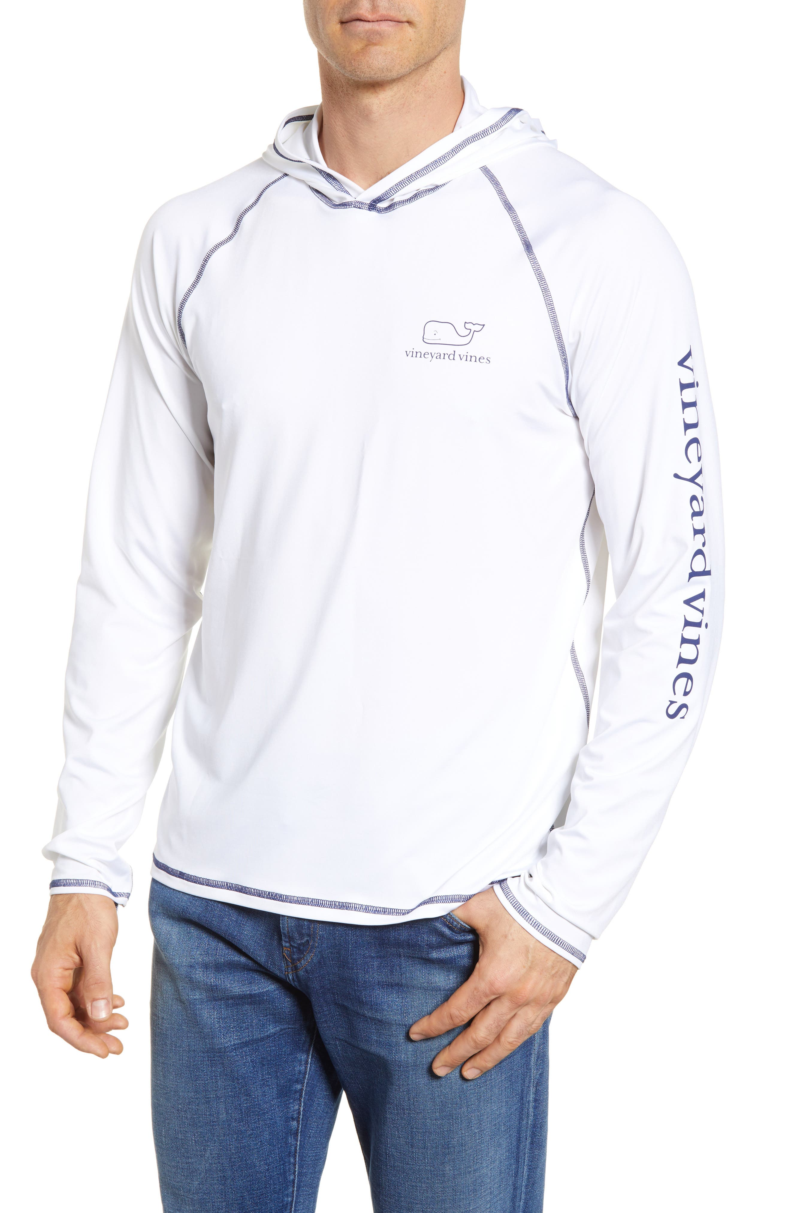 Performance Hoodie,                         Main,                         color, White Cap