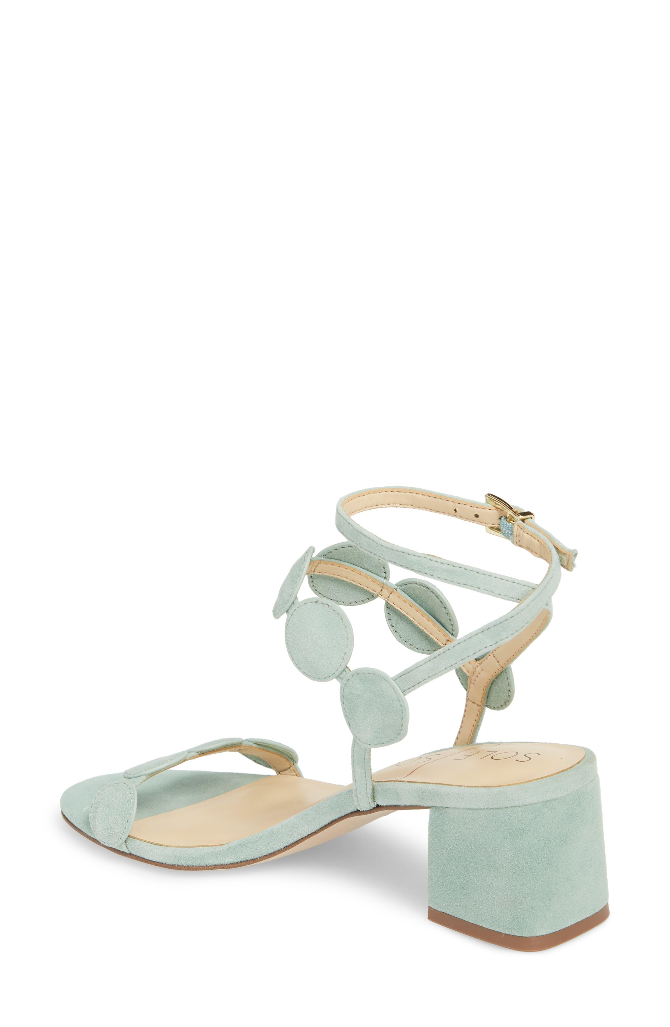Shea Block Heel Sandal,                             Alternate thumbnail 2, color,                             Sage Green Suede
