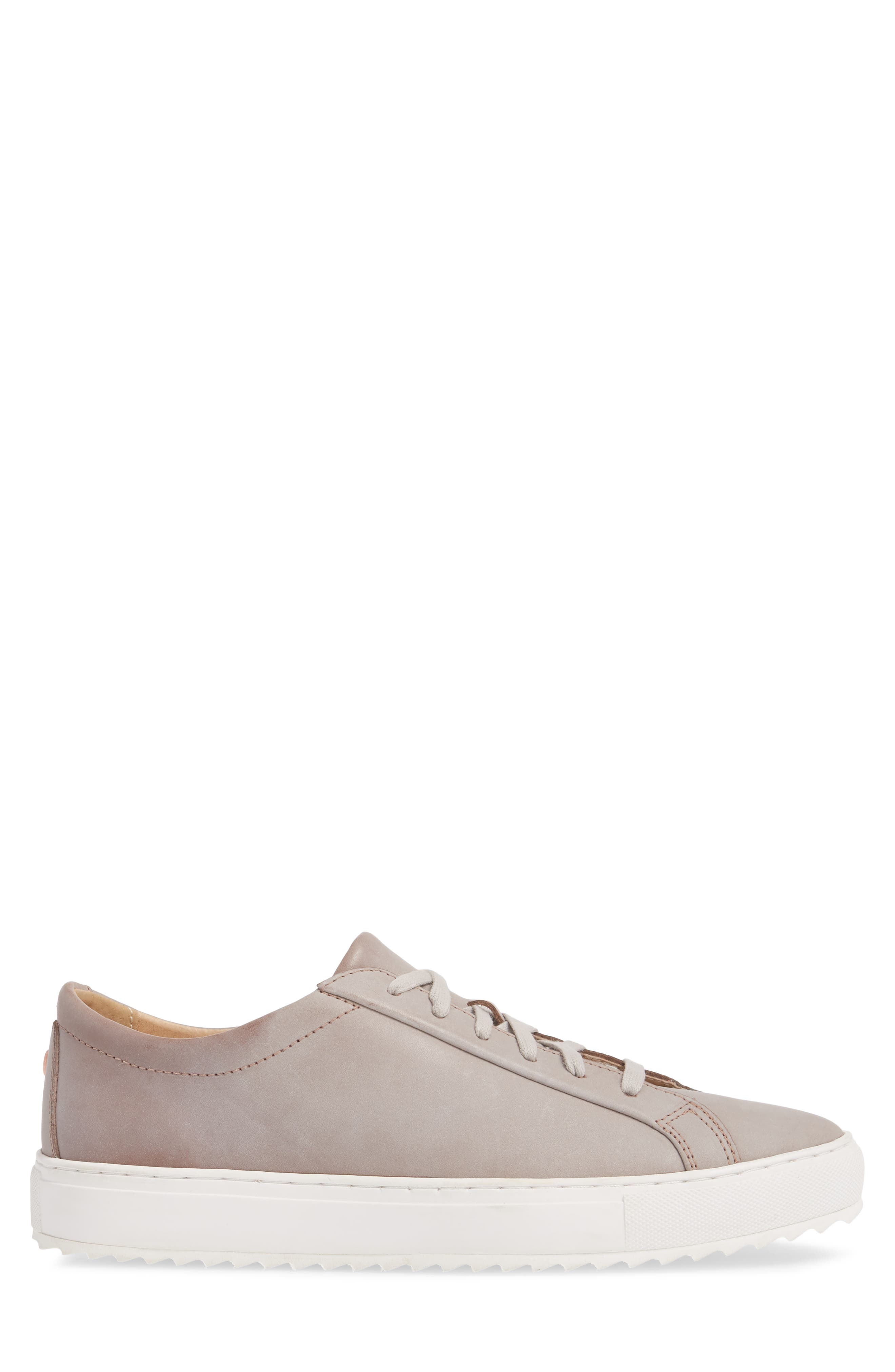 Kennedy Lugged Sneaker,                             Alternate thumbnail 3, color,                             Sand Stone Leather