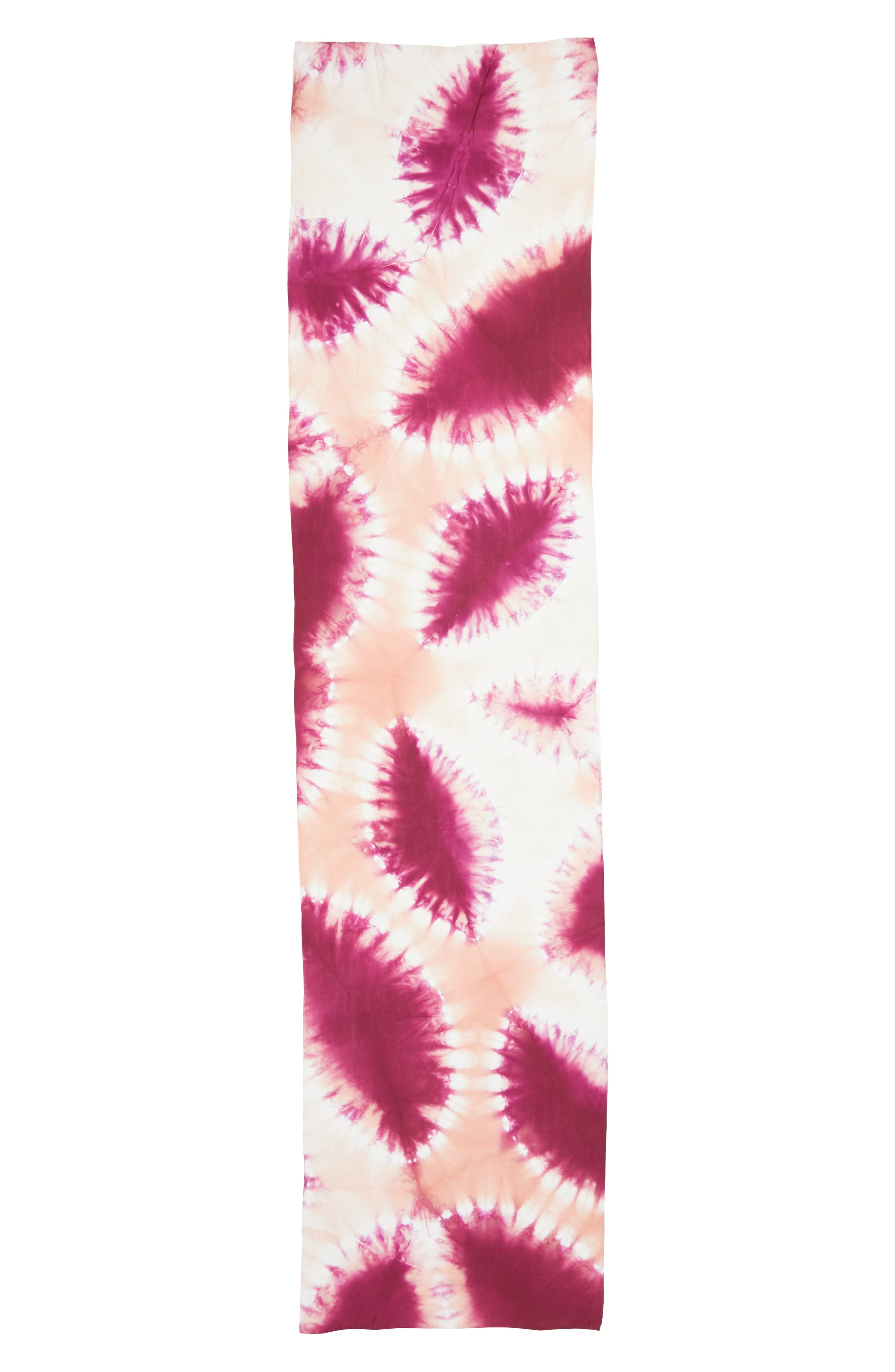 Tie Dye Silk Scarf,                             Alternate thumbnail 5, color,                             Cerise